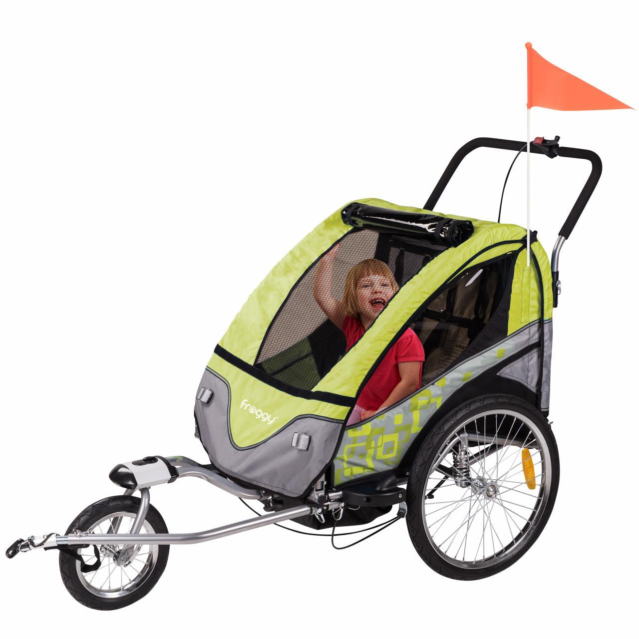Kinderfahrradanhaenger-Fahrradanhaenger-Kinderanhaenger-Jogger-Stahl-Modellwahl