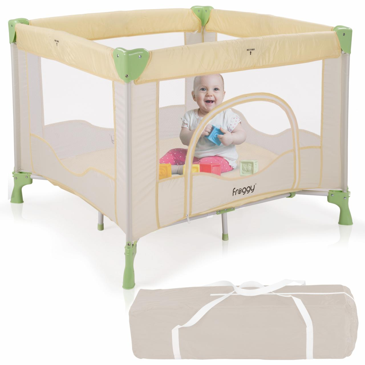 reisebett laufstall babyreisebett spielstall babybett kinderbett kinderreisebett ebay. Black Bedroom Furniture Sets. Home Design Ideas