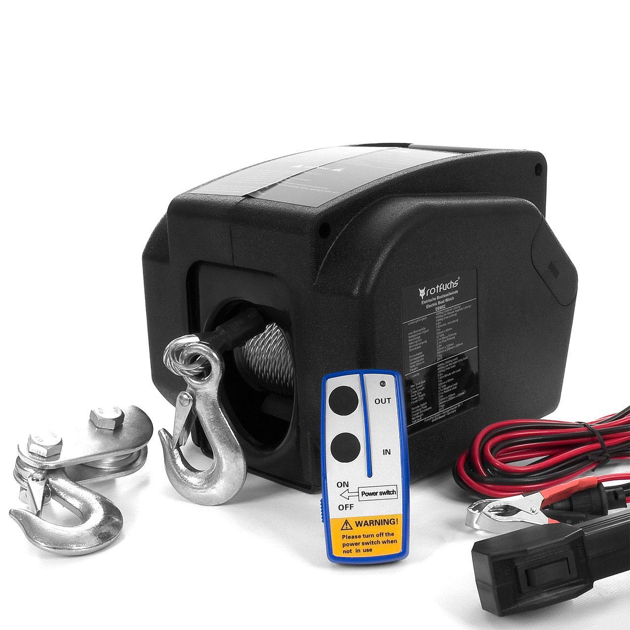 Elektrische-Seilwinde-Motorwinde-12V-2721-4990-KG-Funk-Bootswinde-Winde-Seilzug