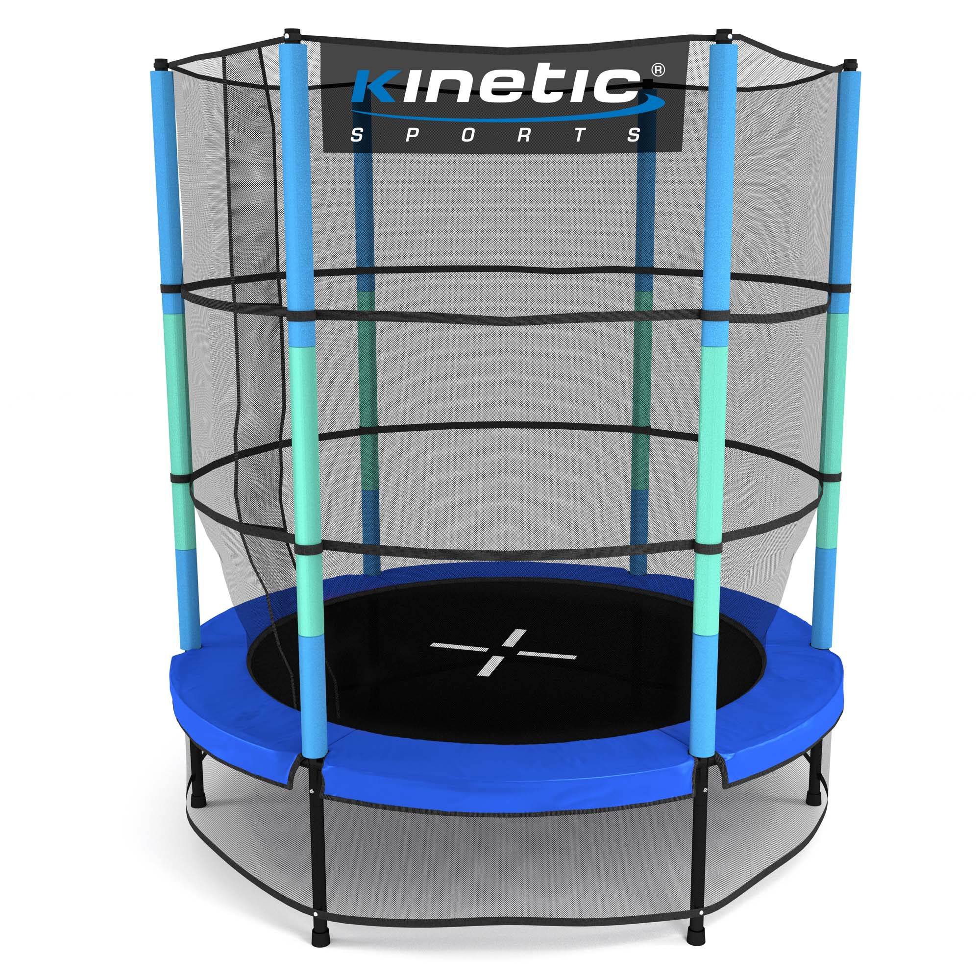 kinder trampolin indoor outdoor garten 140cm mit sicherheitsnetz in pink o blau ebay. Black Bedroom Furniture Sets. Home Design Ideas