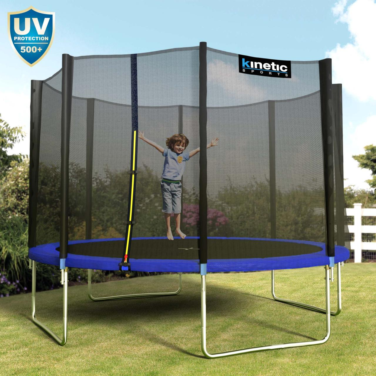 kinetic sports trampolin outdoor garten inkl netz sprungtuch randabdeckung set ebay. Black Bedroom Furniture Sets. Home Design Ideas