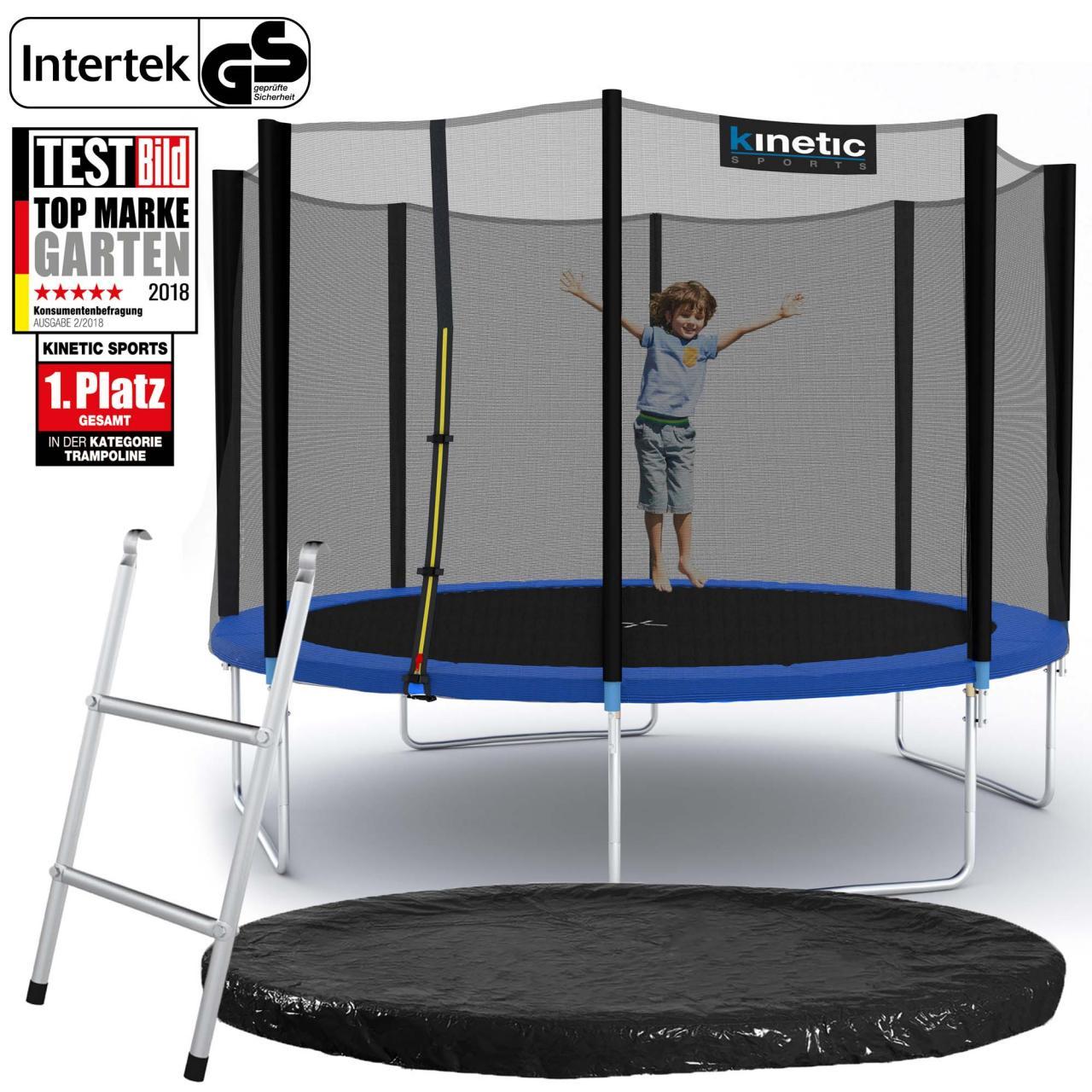 kinetic sports trampolin gartentrampolin mit zubeh r netz. Black Bedroom Furniture Sets. Home Design Ideas