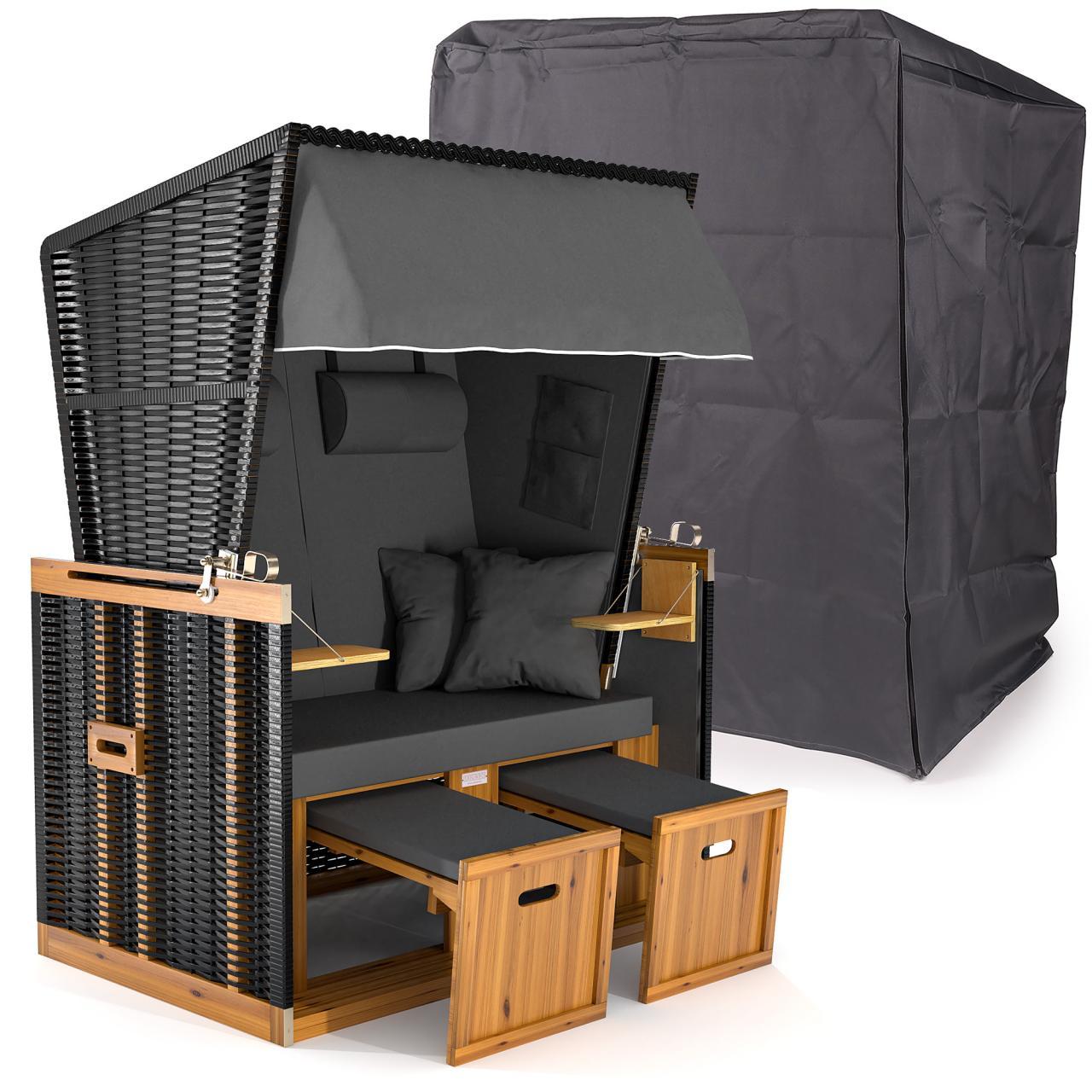strandkorb xxl premium volllieger nordsee gartenliege sylt gartenm bel rattan ebay. Black Bedroom Furniture Sets. Home Design Ideas