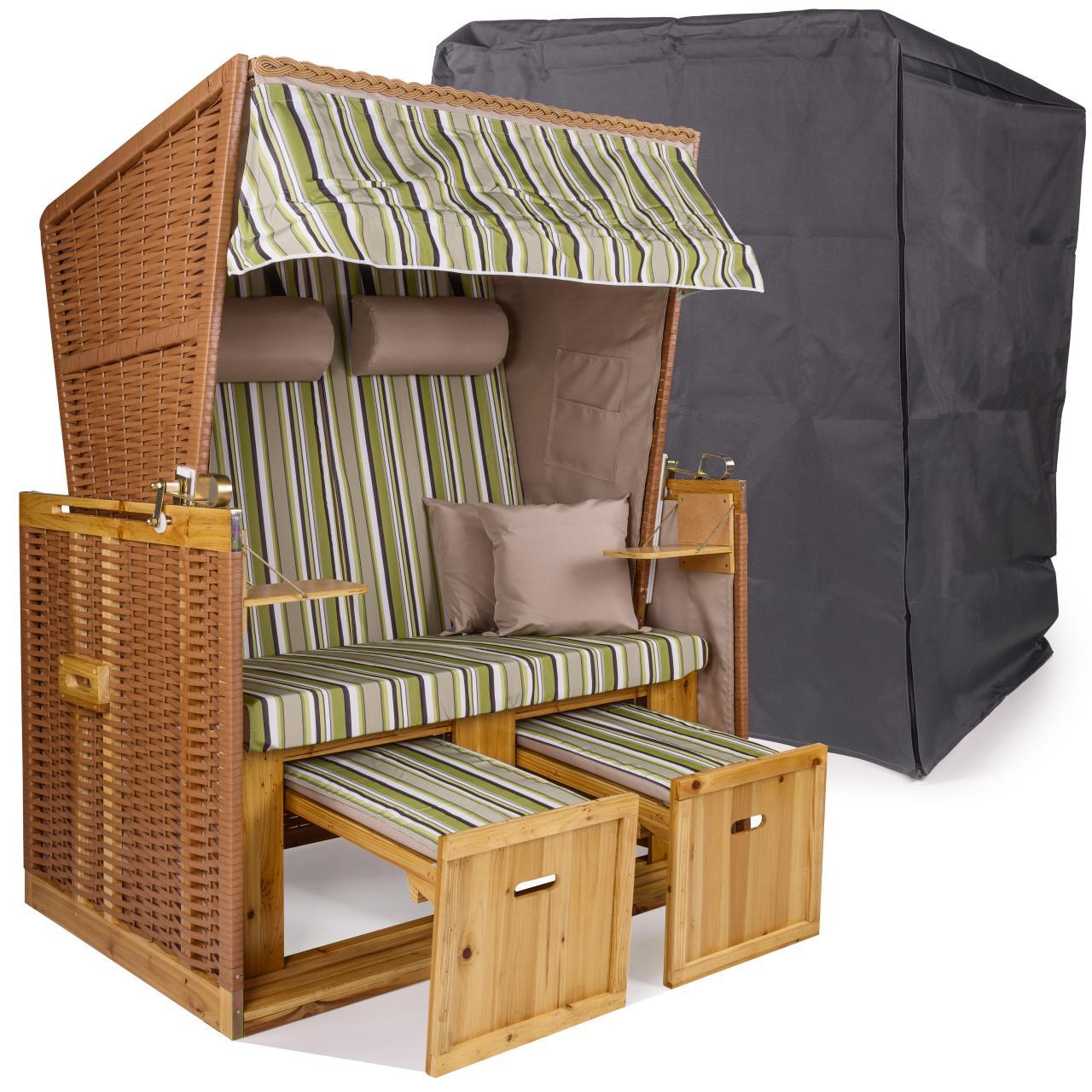 strandkorb xxl premium nordsee gartenliege sylt volllieger gartenm bel rattan. Black Bedroom Furniture Sets. Home Design Ideas