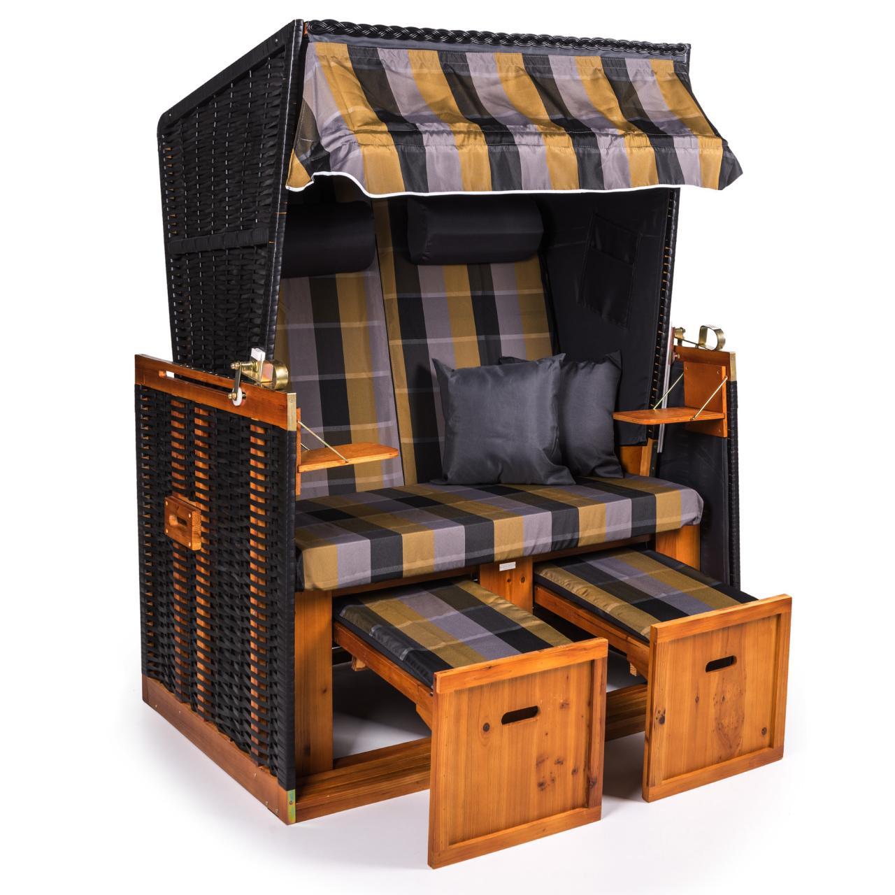 xxl strandkorb premium nordsee volllieger gartenm bel gartenliege sonnenliege ebay. Black Bedroom Furniture Sets. Home Design Ideas