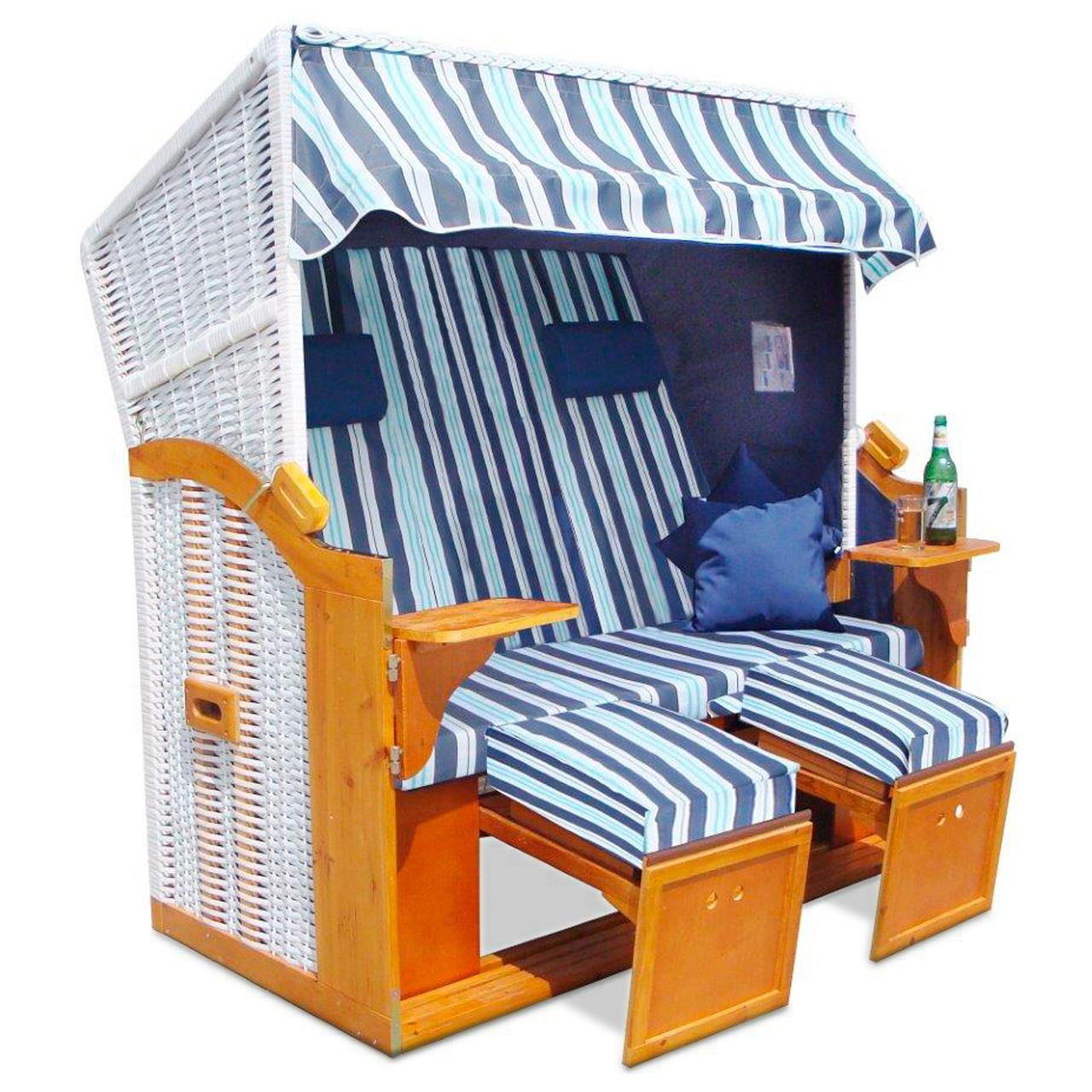 strandkorb xxl volllieger ostsee gartenliege sonneninsel rattan m bel neu ebay. Black Bedroom Furniture Sets. Home Design Ideas
