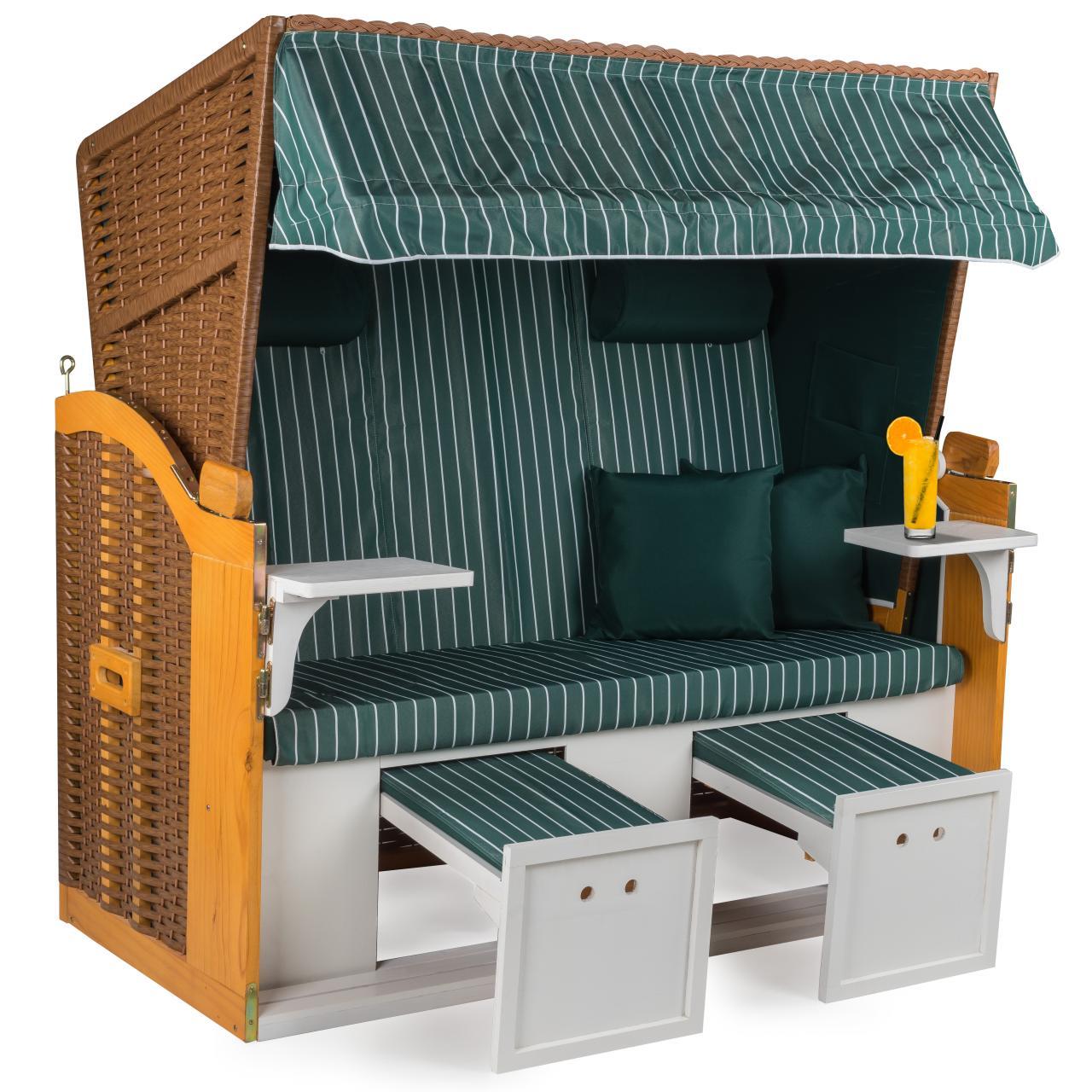 strandkorb 160cm premium nordsee volllieger gartenm bel gartenliege sonnenliege. Black Bedroom Furniture Sets. Home Design Ideas