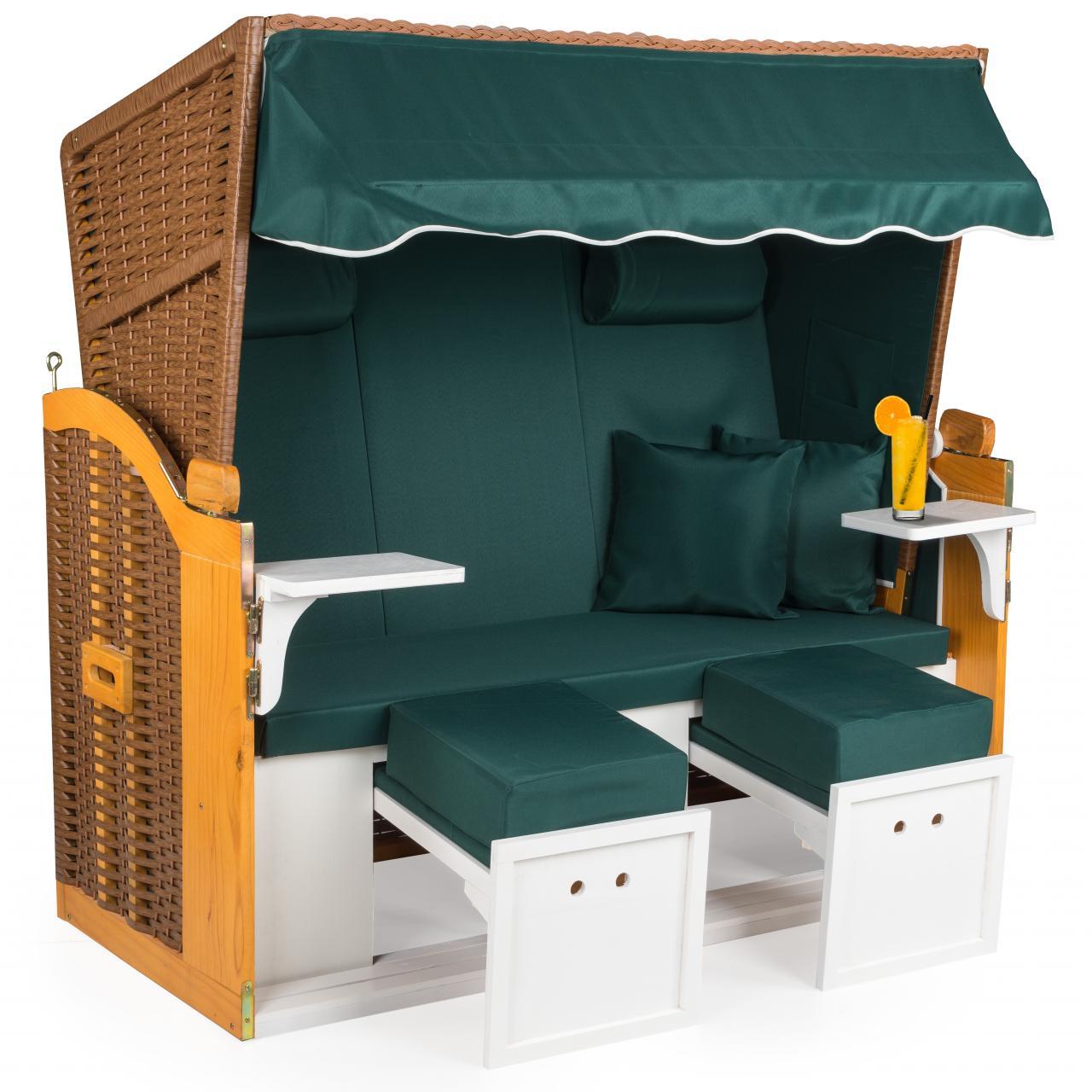 strandkorb 160cm premium volllieger nordsee gartenm bel gartenliege sonnenliege ebay. Black Bedroom Furniture Sets. Home Design Ideas