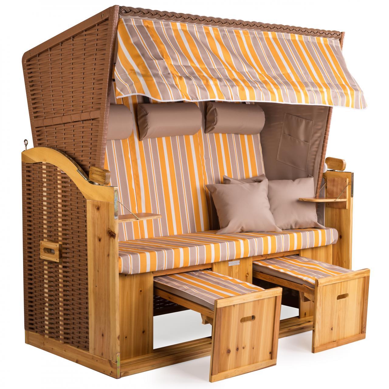 strandkorb xxl deluxe 160cm volllieger gartenliege nordsee gartenm bel vollieger ebay. Black Bedroom Furniture Sets. Home Design Ideas
