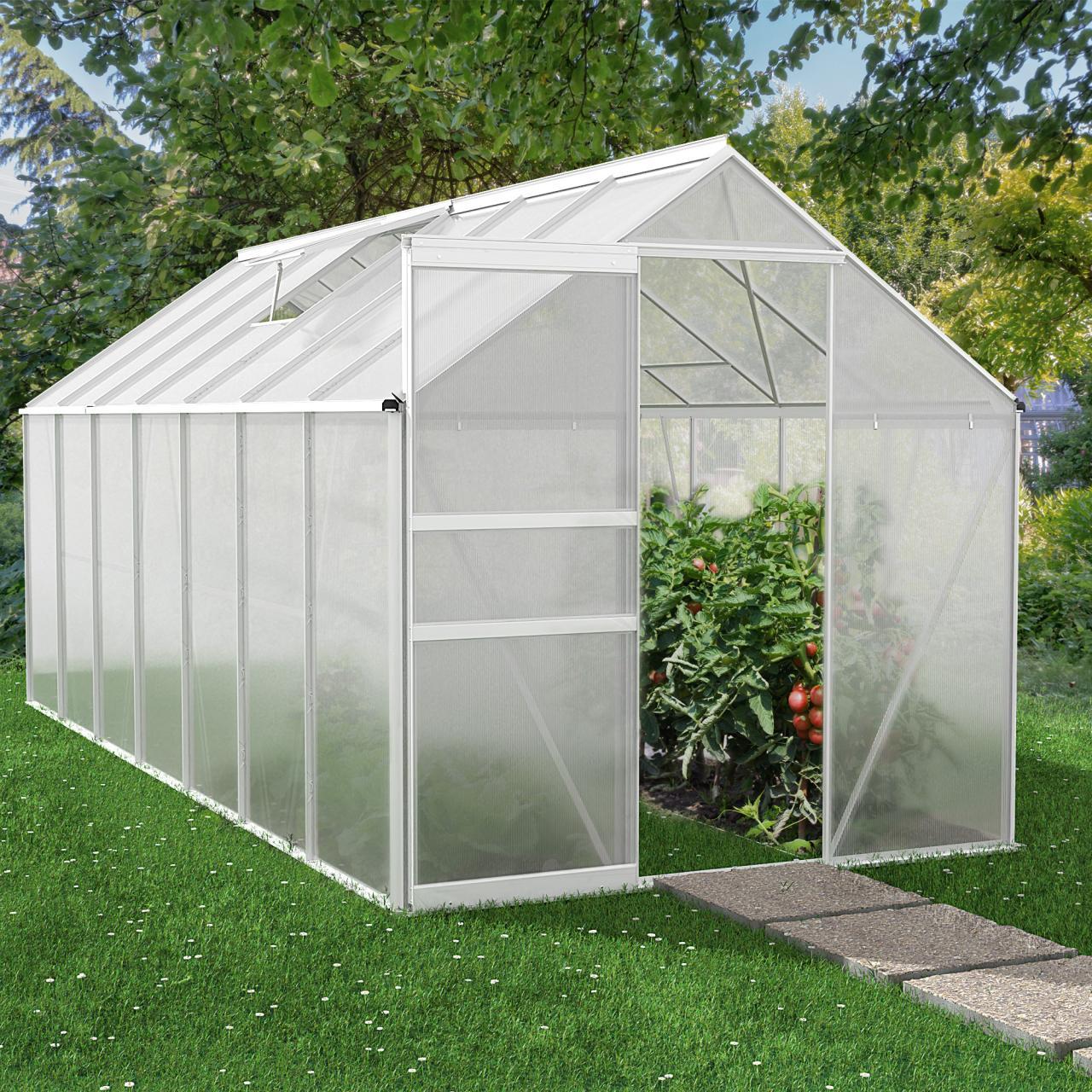 rotfuchs gew chshaus treibhaus fr hbeet garten tomaten pflanzen dachplatten 6 mm ebay. Black Bedroom Furniture Sets. Home Design Ideas