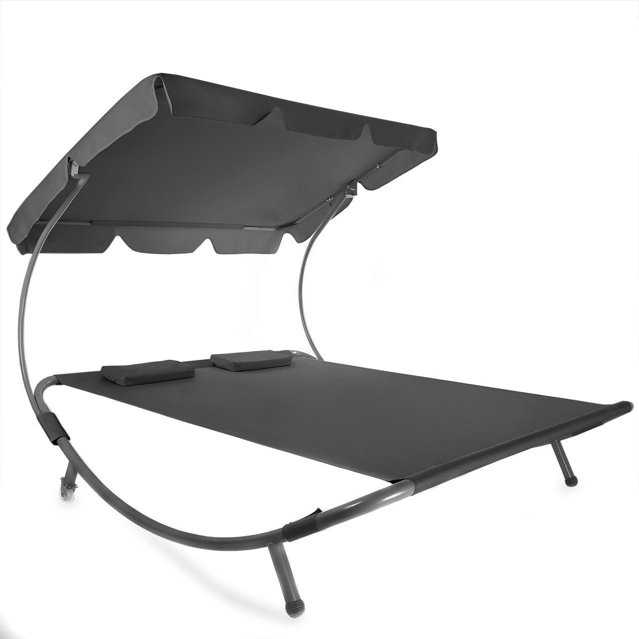 sonnenliege gartenliege relaxliege doppelliege liege dach. Black Bedroom Furniture Sets. Home Design Ideas