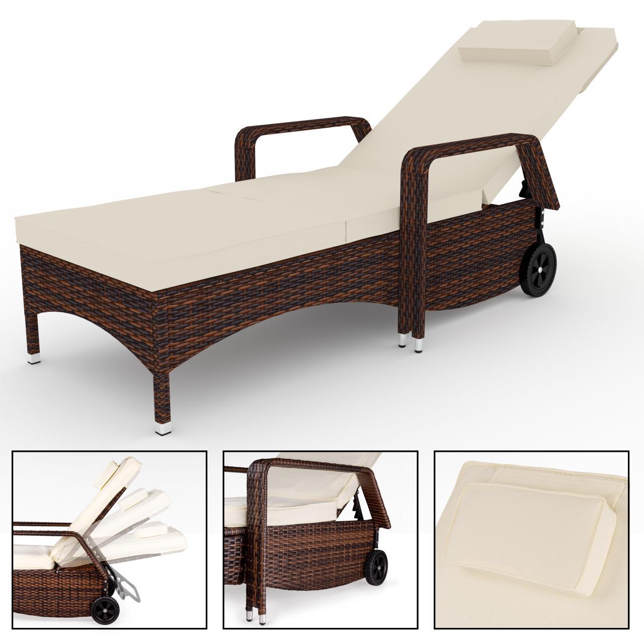 polyrattan sonnenliege gartenliege garten rattan liege. Black Bedroom Furniture Sets. Home Design Ideas