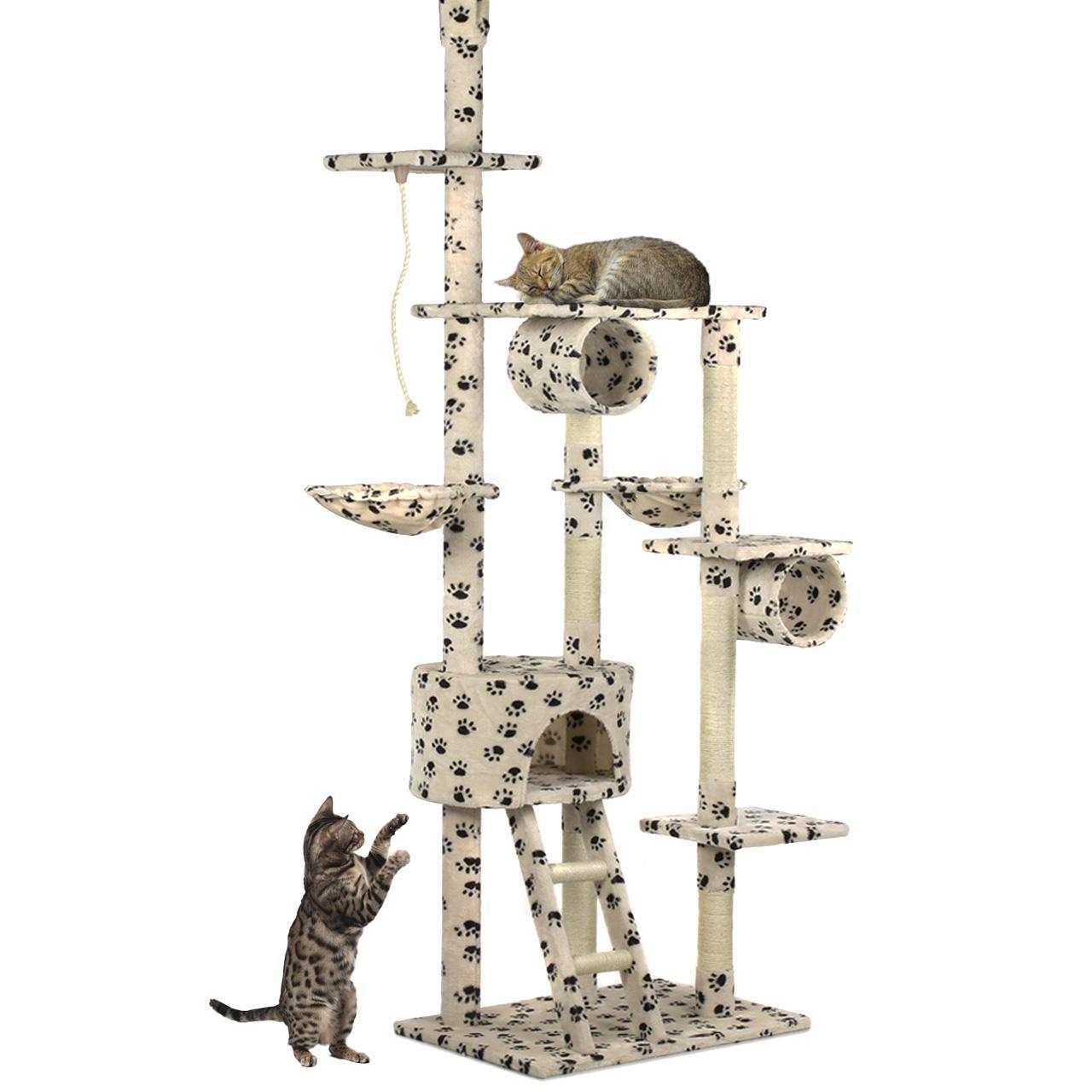 kratzbaum happypet katzenkratzbaum katzen baum deckenhoch kletterbaum sisal ebay. Black Bedroom Furniture Sets. Home Design Ideas