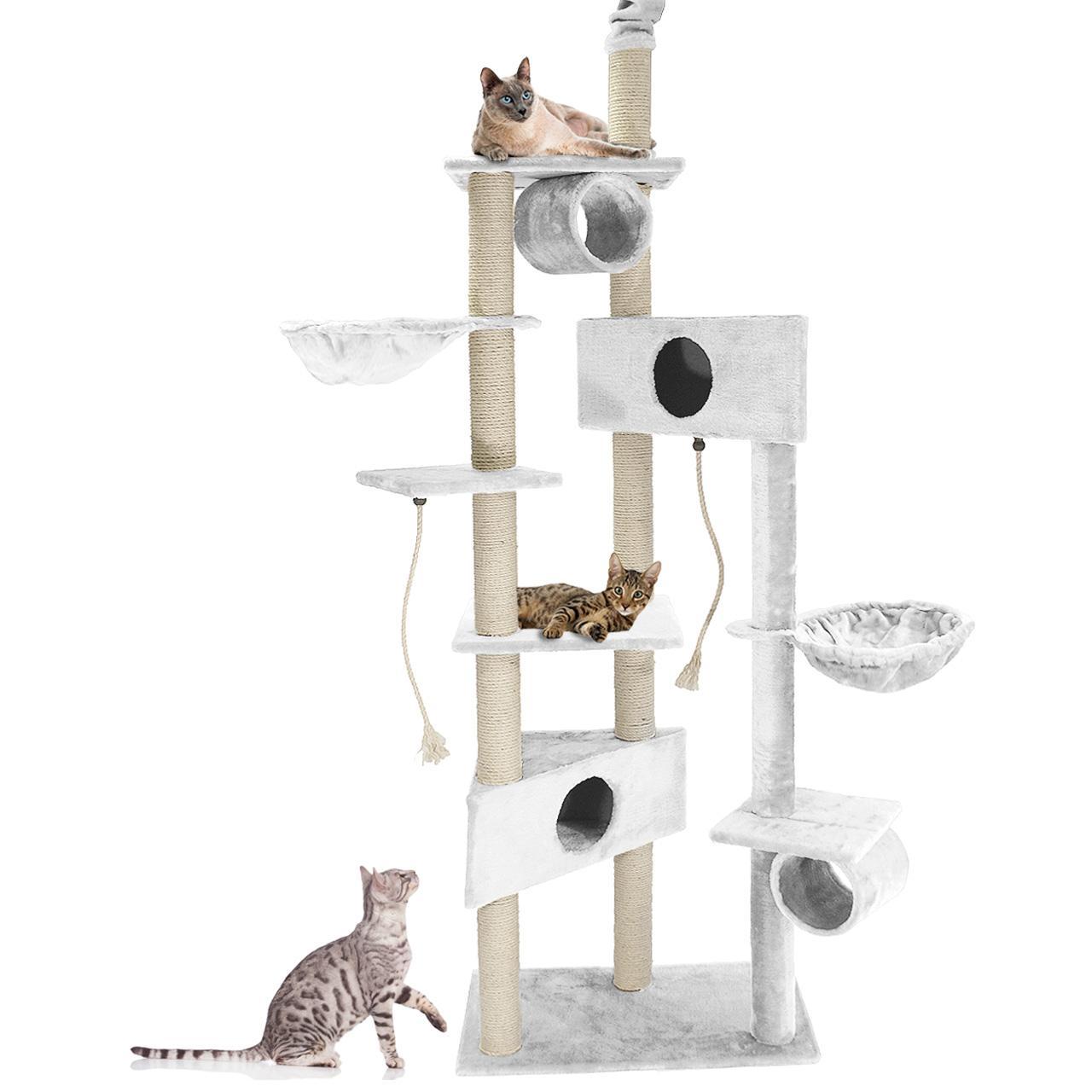cat012 luxus kratzbaum katzenkratzbaum katzenbaum katzen deckenhoch farbwahl xxl ebay. Black Bedroom Furniture Sets. Home Design Ideas