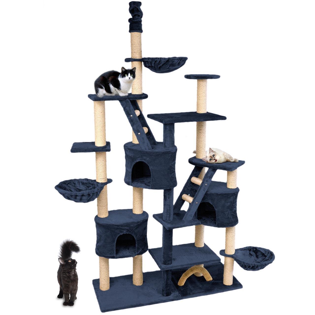 kratzbaum katzenkratzbaum katzenbaum katzen deckenhoch farbwahl xxl kletterbaum ebay. Black Bedroom Furniture Sets. Home Design Ideas