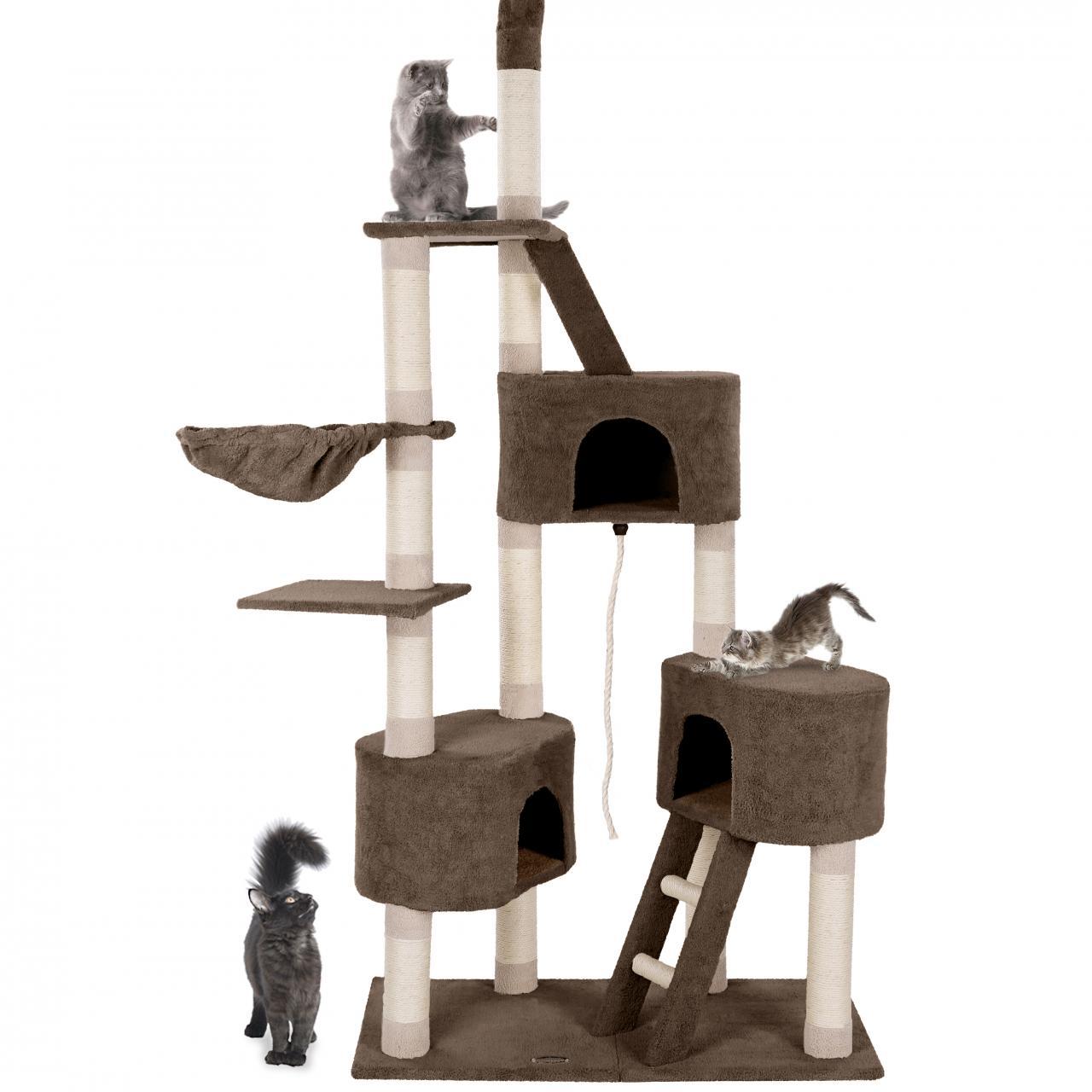 kratzbaum katzenkratzbaum katzenbaum gro kletterbaum h hlen liegemulde sisal ebay. Black Bedroom Furniture Sets. Home Design Ideas