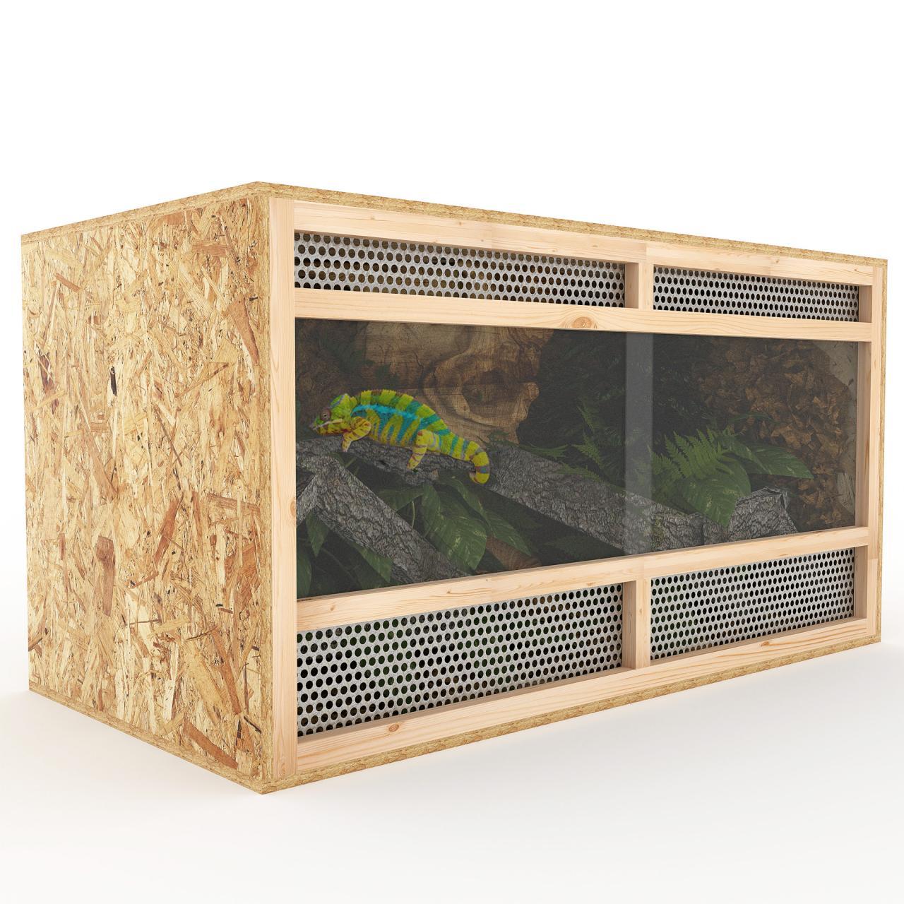 Terrarium-Holz-Holzkaefig-OSB-Plexi-Reptilien-Schlangen-Holzterrarium-Groessenwahl