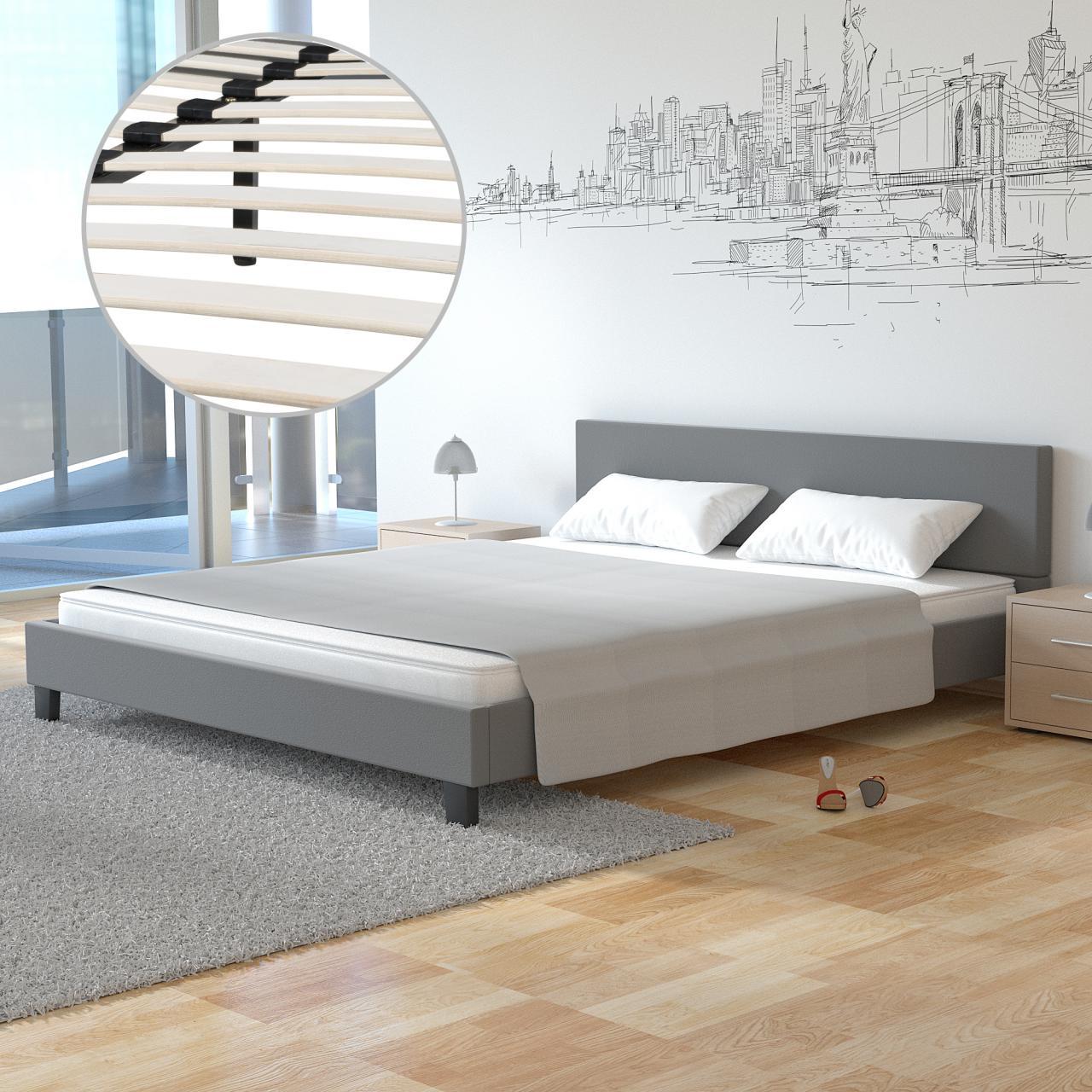 polsterbett doppelbett bettgestell bettrahmen. Black Bedroom Furniture Sets. Home Design Ideas