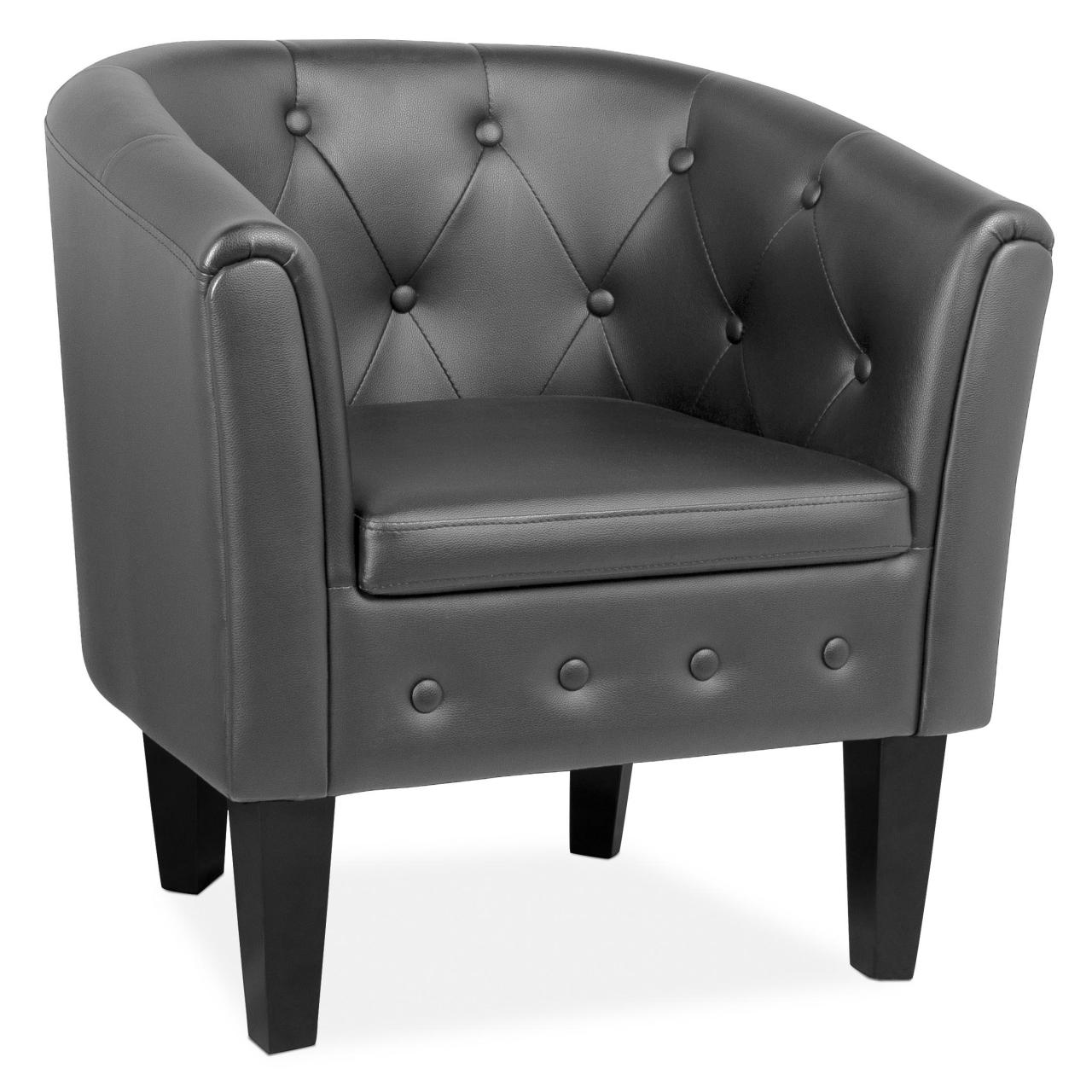 chesterfield sessel lounge club couch sofa b ro m bel clubsessel kunstleder ebay. Black Bedroom Furniture Sets. Home Design Ideas