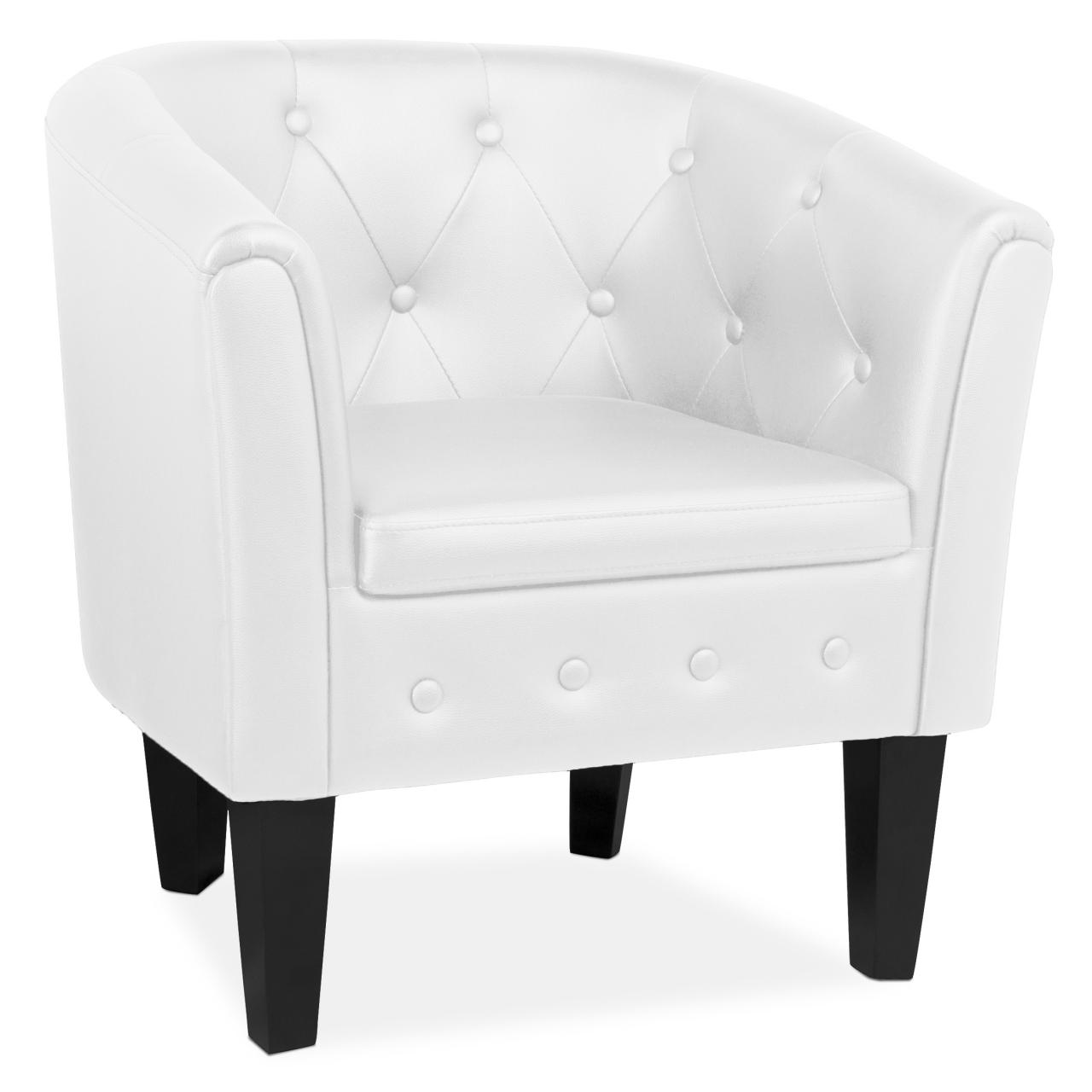 White chesterfield chair - Chesterfield Chair Club Cocktail Armchair Lounge Sofa Seat