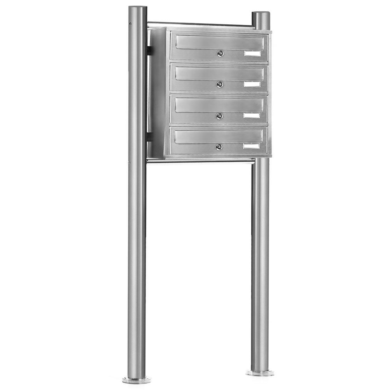 standbriefkasten v2a edelstahl briefkasten anlage system post mailbox postkasten ebay. Black Bedroom Furniture Sets. Home Design Ideas