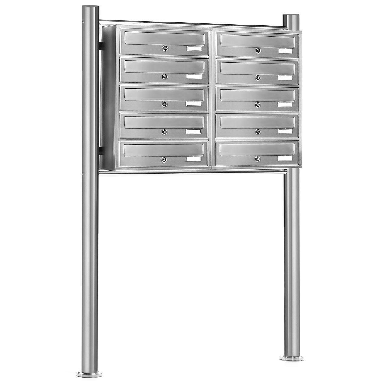 standbriefkasten v2a edelstahl briefkasten anlage system. Black Bedroom Furniture Sets. Home Design Ideas