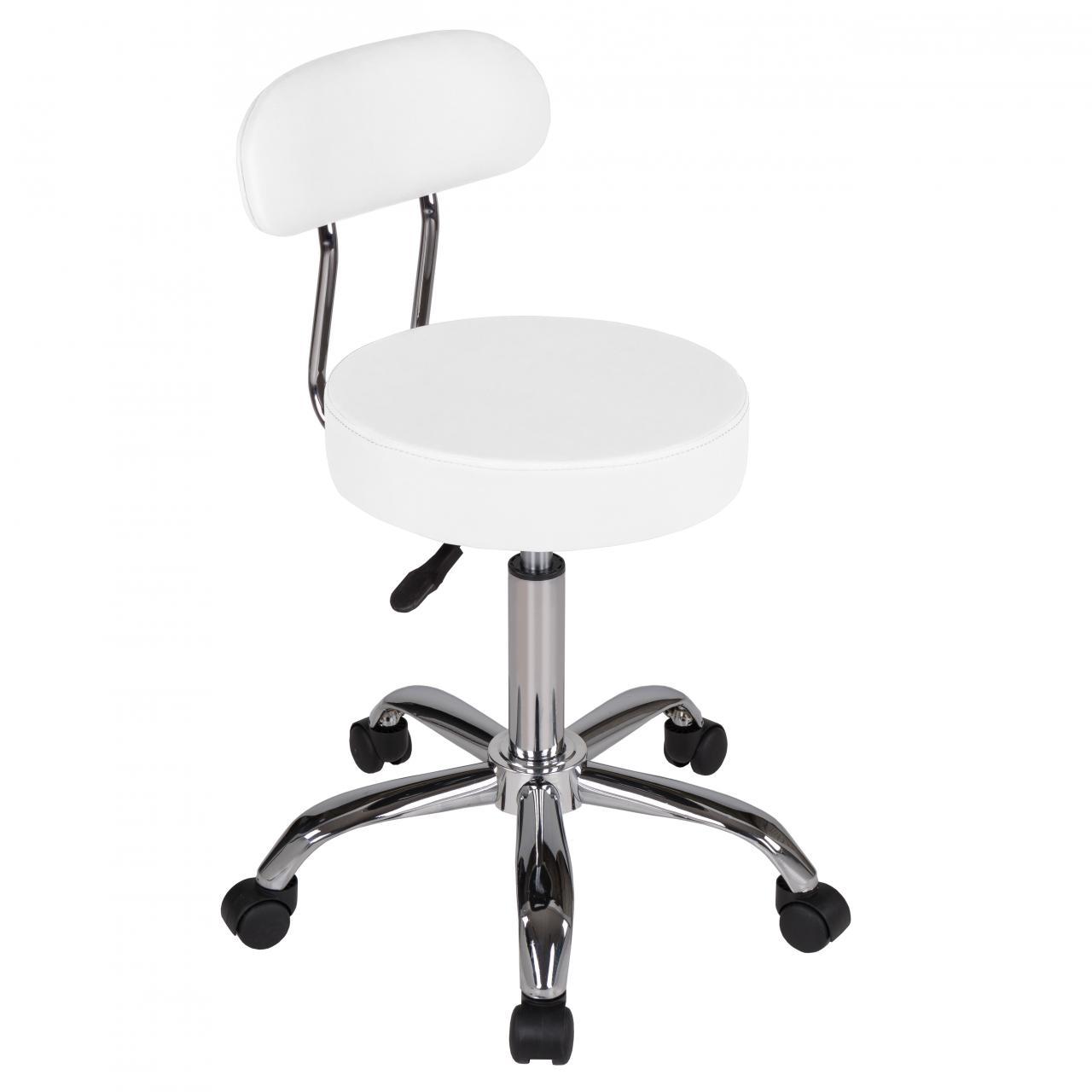 drehhocker mit lehne rollhocker hocker arbeitshocker drehstuhl praxishocker ebay. Black Bedroom Furniture Sets. Home Design Ideas