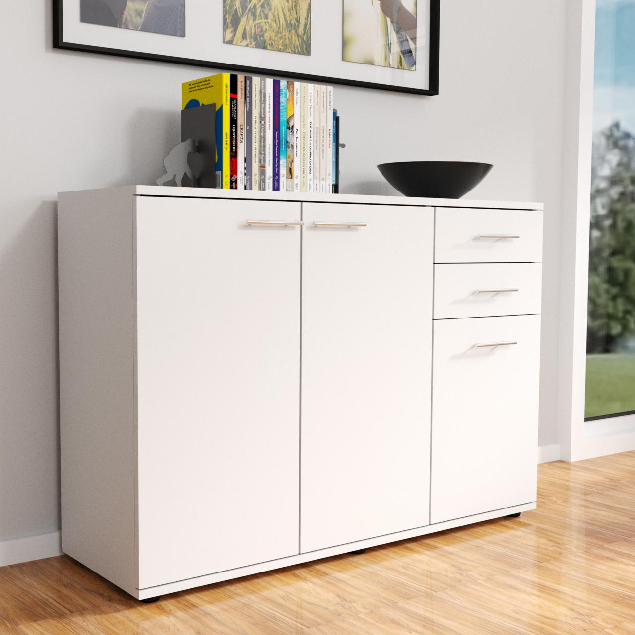 moderne kommode sideboard highboard mehrzweckschrank. Black Bedroom Furniture Sets. Home Design Ideas