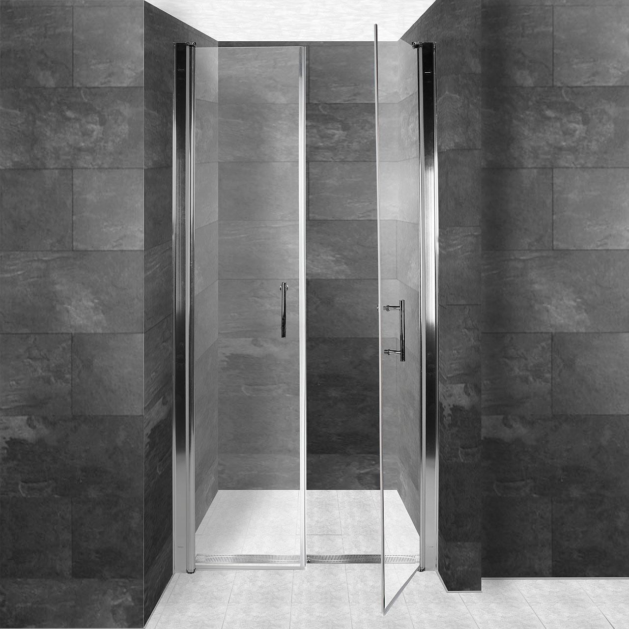 luxus duschabtrennung duschwand duscht r nischent r dusche alurahmen nanoschicht ebay. Black Bedroom Furniture Sets. Home Design Ideas