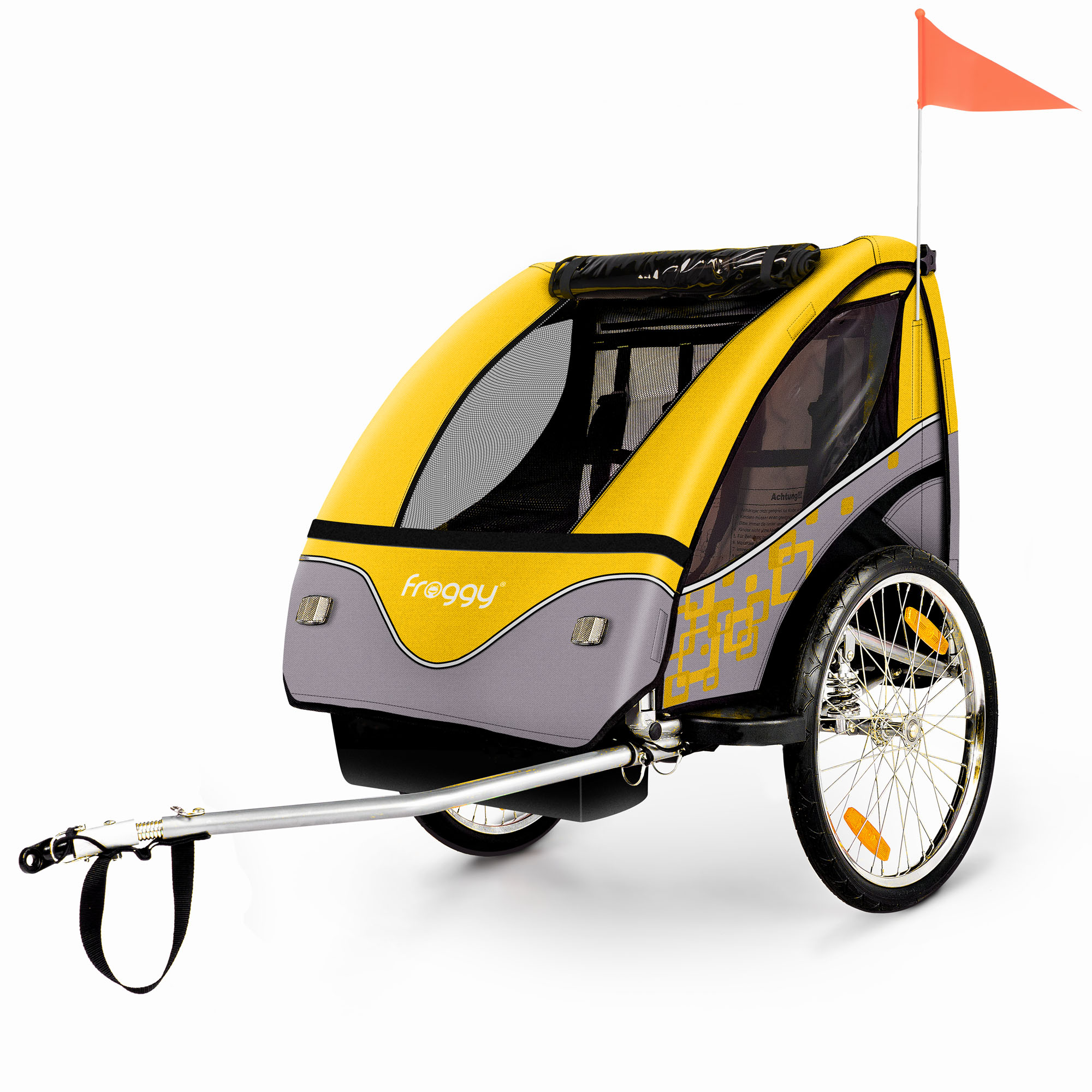 Kinderfahrradanhaenger-Fahrradanhaenger-Kinderanhaenger-Jogger-Stahl-Farbwahl