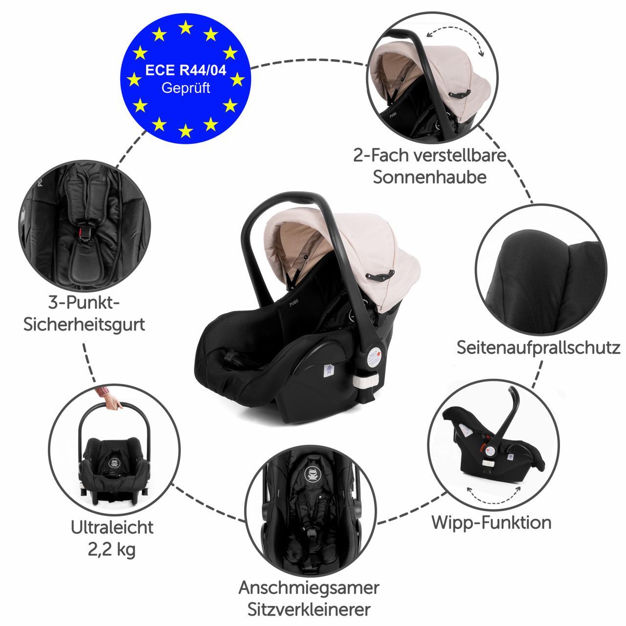 COCOON-Autositz-Babyschale-Kindersitz-Baby-Kinder-Kinderwagen-Auto-Babysitz