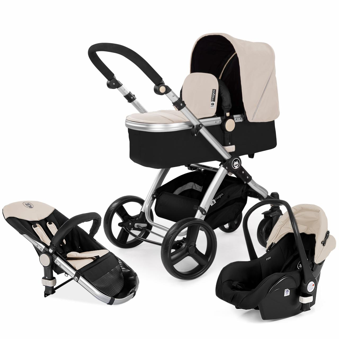 kombikinderwagen 3in1 kombi set kinderwagen inkl babyschale buggy kinderwagenset ebay. Black Bedroom Furniture Sets. Home Design Ideas