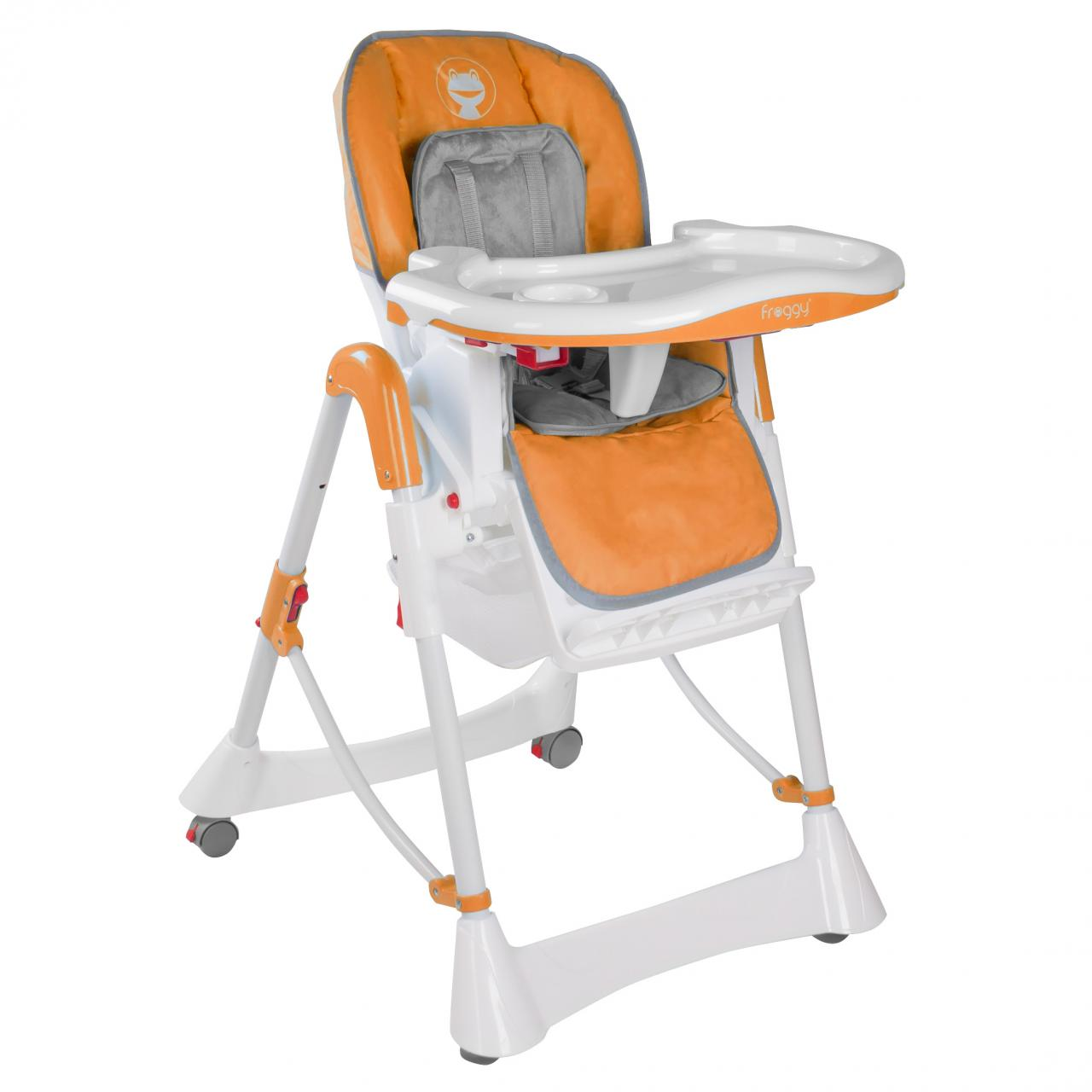 Froggy-Kinderstuhl-Hochstuhl-Babystuhl-Verstellbar-klappbar-3-Sitzpositionen