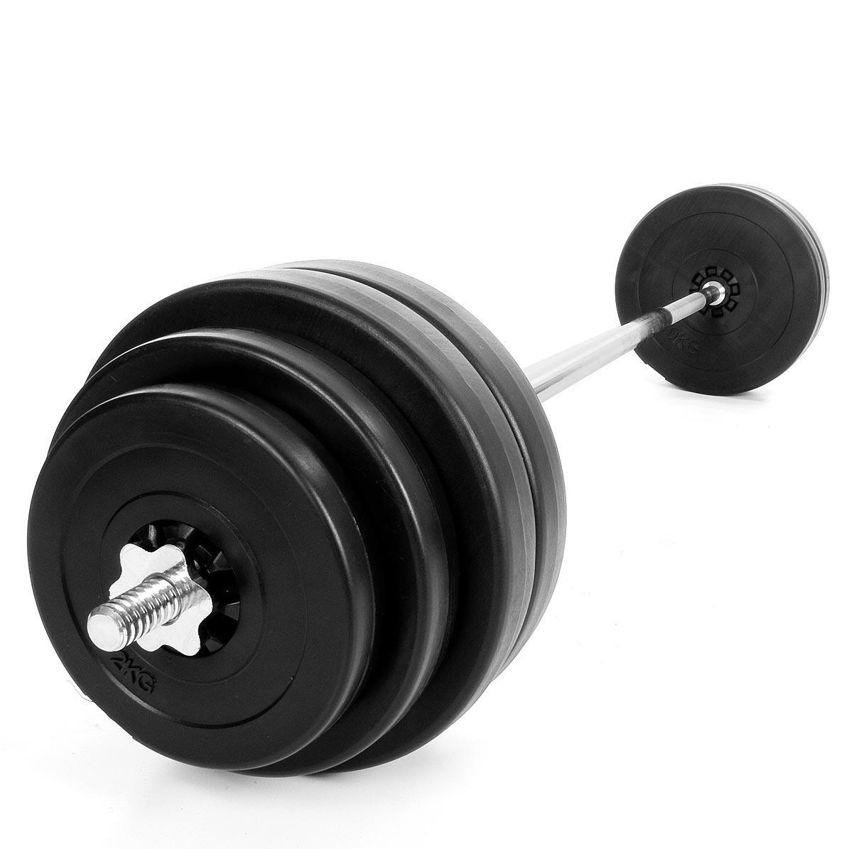 Langhantel-Set-30-60kg-oder-30kg-SZ-Curlstange-Hantel-Langhantelstange-Hanteln