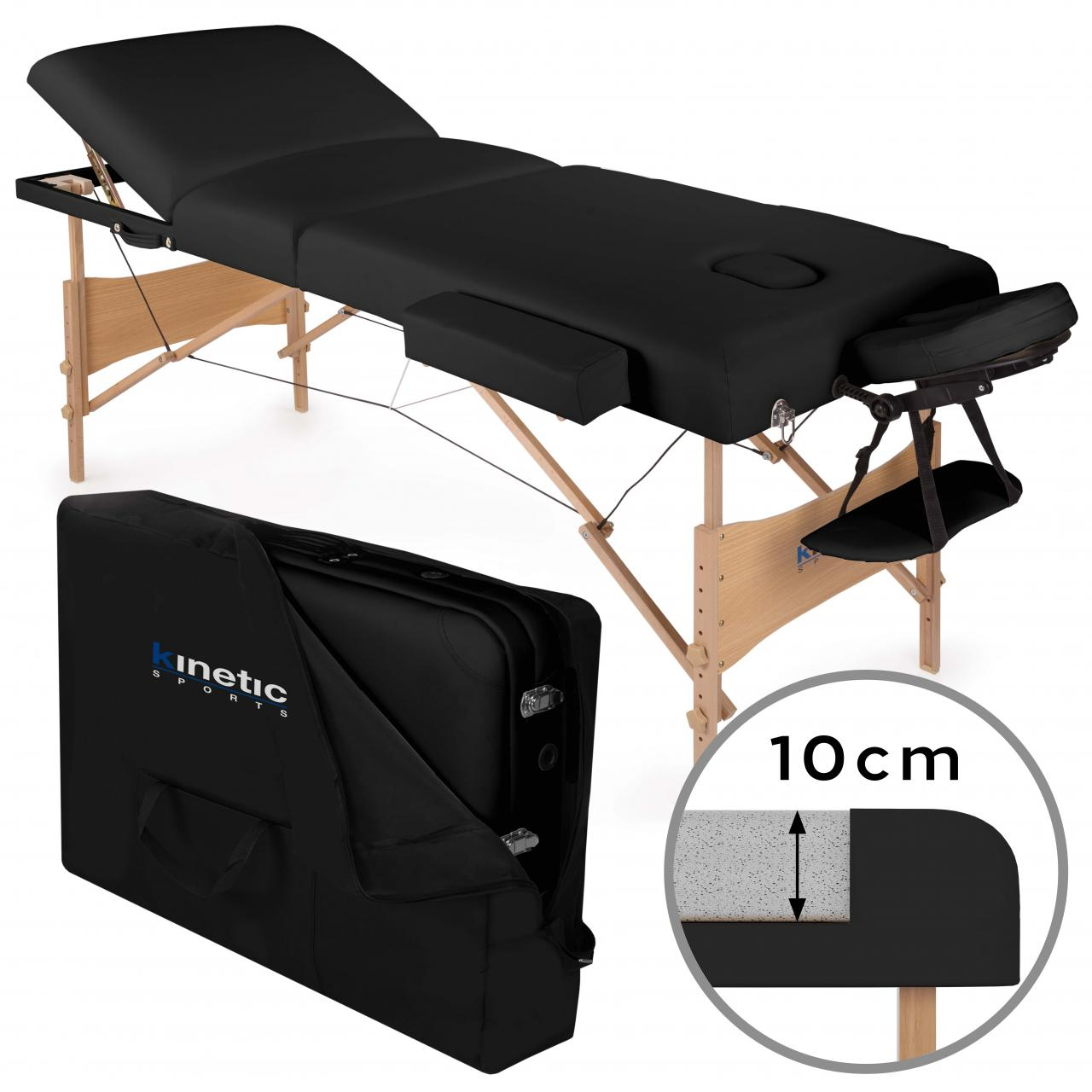 Table lit banc de massage cosmetique pliante 3 zones couleurs diver coffre inclu ebay - Table de massage pliante ebay ...