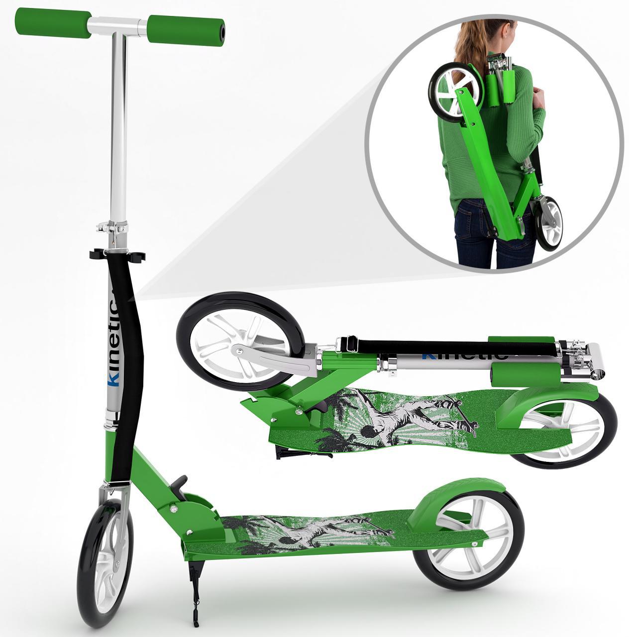 Kinetic-Sports-Scooter-Cityroller-Tretroller-Klappbar-XXL-Raeder-100kg-Farbwahl
