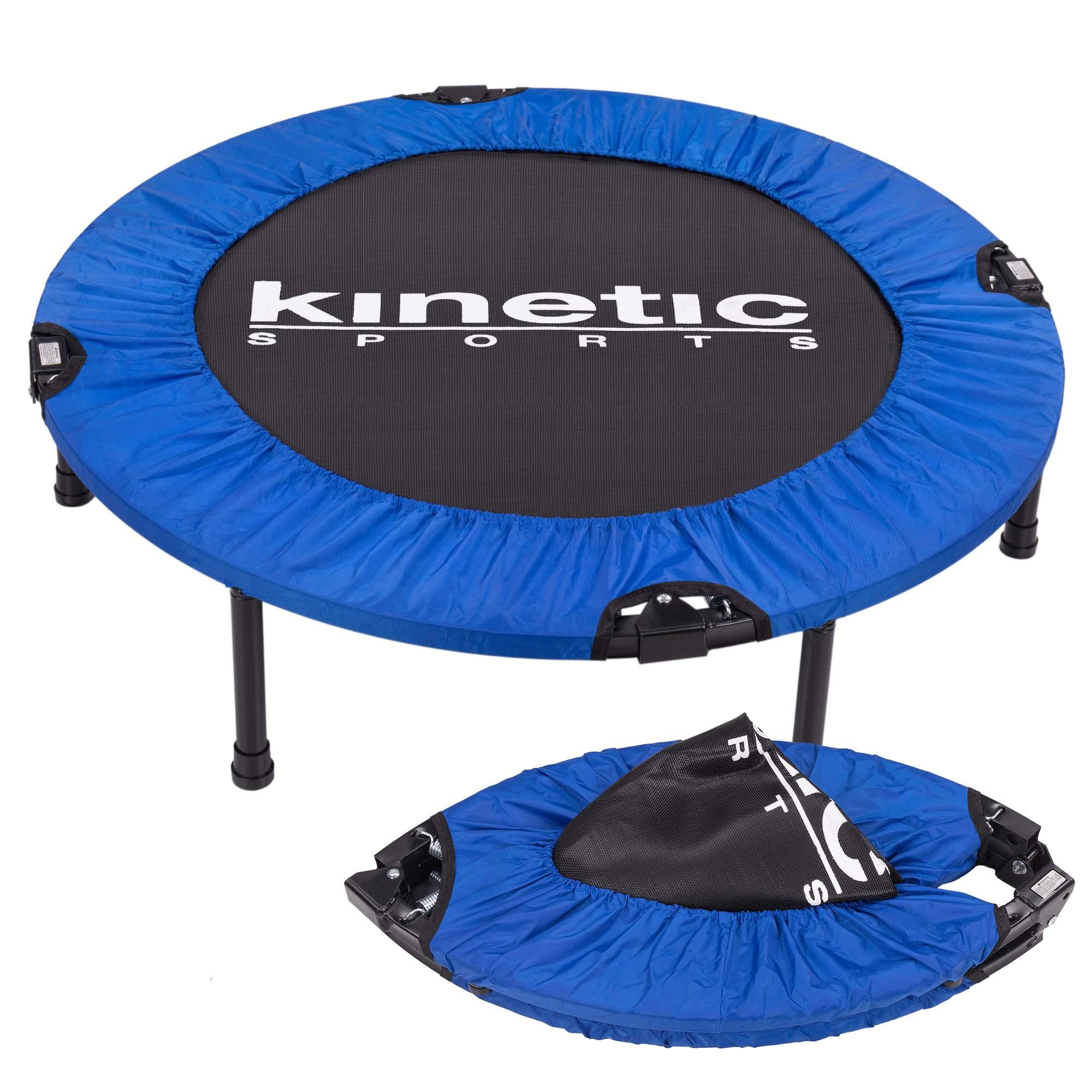 KINETIC-SPORTS-Fitness-Trampolin-Faltbar-Indoor-Minitrampolin-Jumping-Plus-NEU