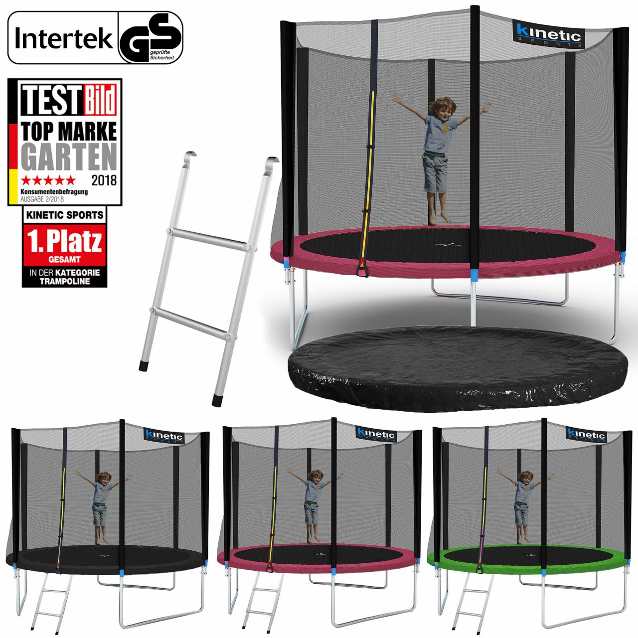 kinder trampolin indoor outdoor garten 140cm inkl sicherheitsnetz in blau ebay. Black Bedroom Furniture Sets. Home Design Ideas