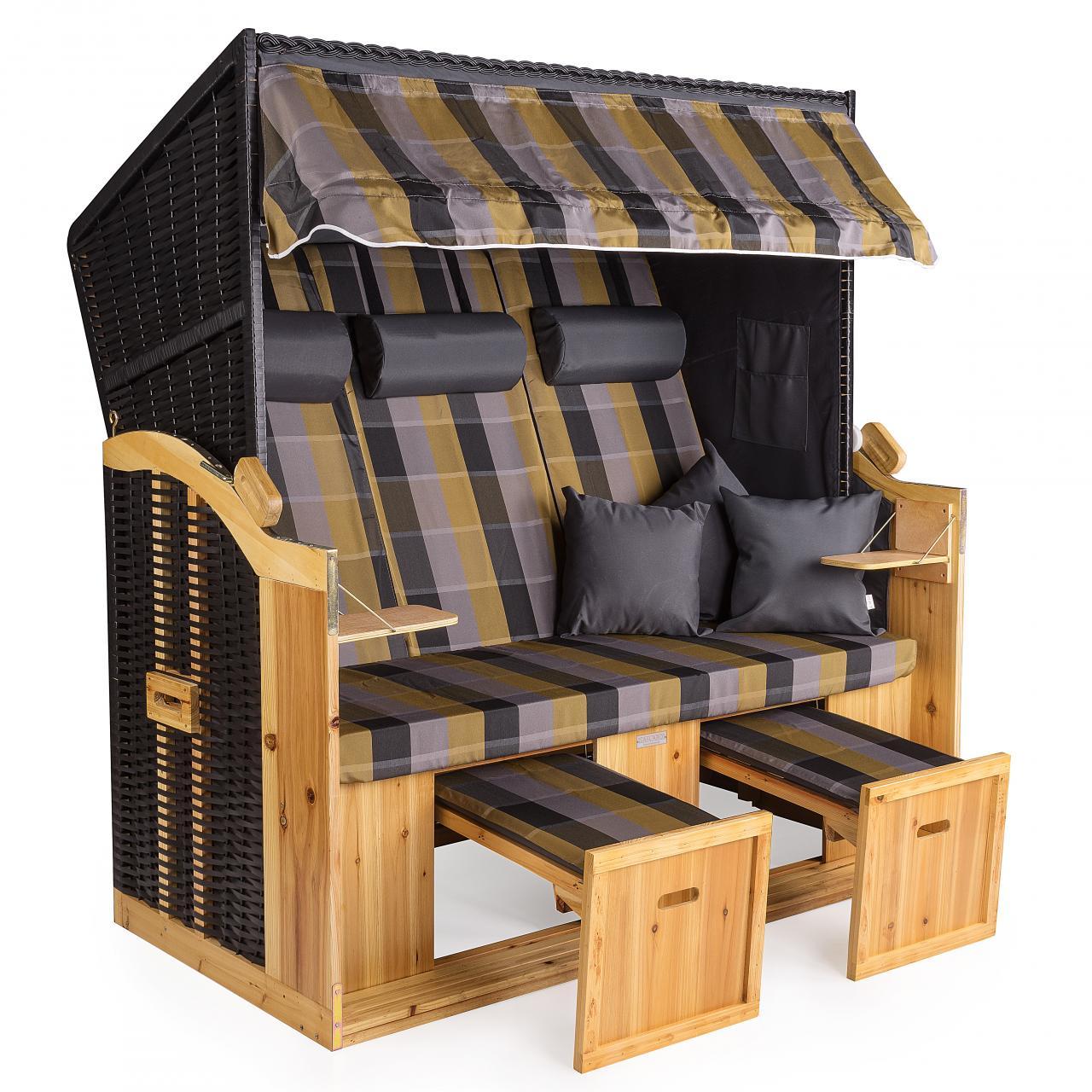 strandkorb xxl deluxe 160cm volllieger gartenliege ostsee nordsee gartenm bel ebay. Black Bedroom Furniture Sets. Home Design Ideas