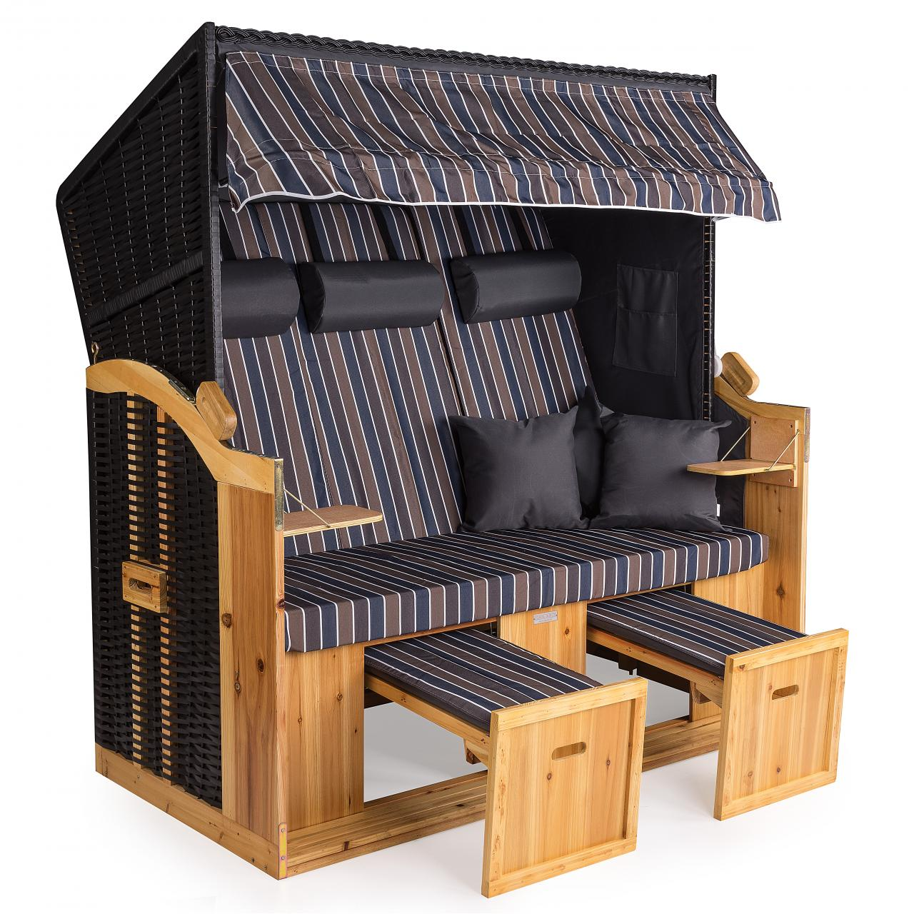 strandkorb xxl deluxe 160cm volllieger gartenliege ostsee. Black Bedroom Furniture Sets. Home Design Ideas