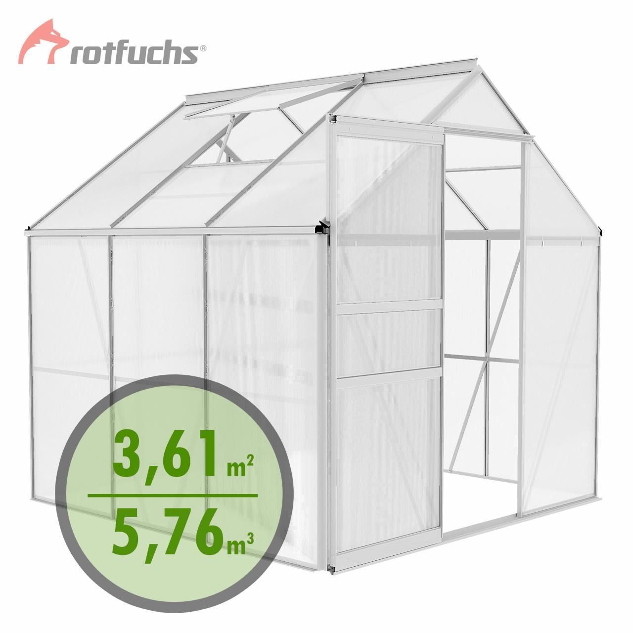 Rotfuchs-Gewaechshaus-Treibhaus-Fruehbeet-Alu-Gewaechshaus-Tomatenhaus-Pflanzenhaus