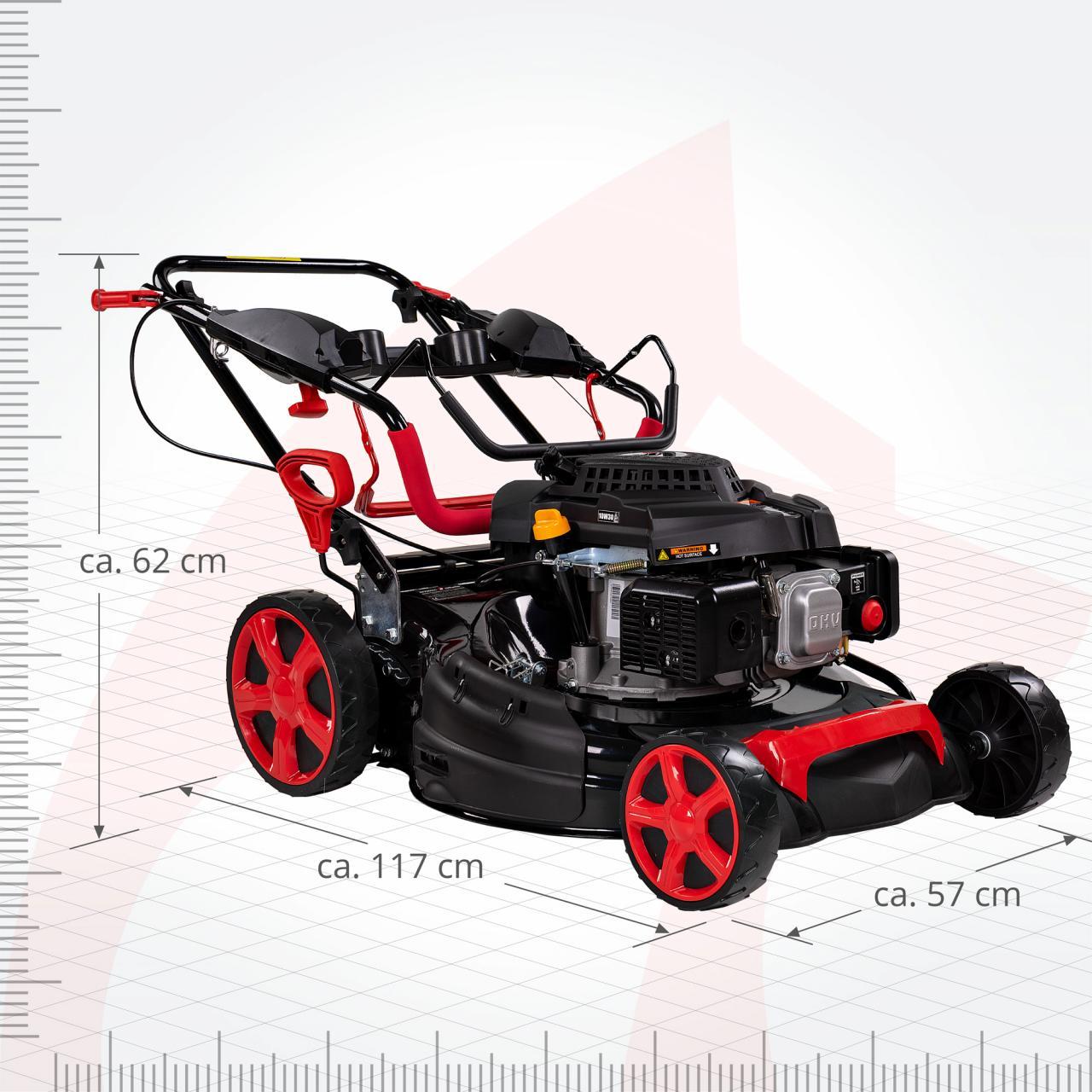 6PS ROTFUCHS® Benzin Rasenmäher mit Radantrieb GT Markengetriebe 4,4kW 51cm