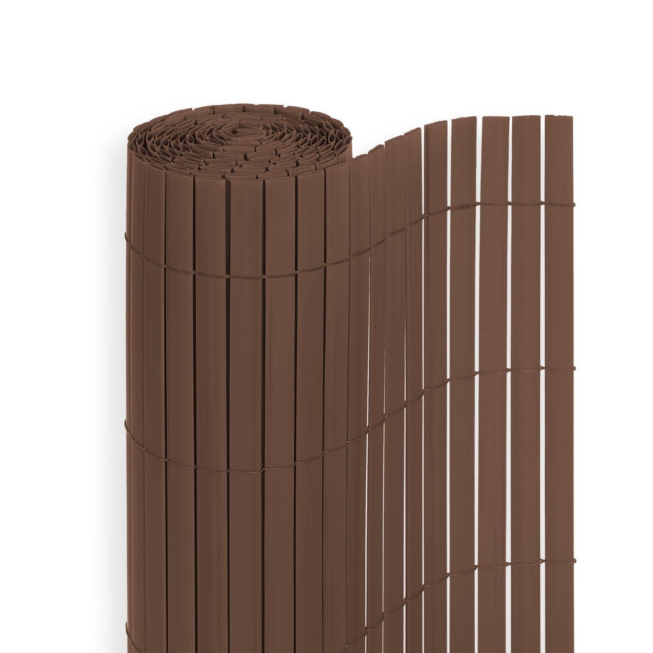 pvc sichtschutzmatte zaun windschutz balkon markise blende vers gr en braun ebay. Black Bedroom Furniture Sets. Home Design Ideas