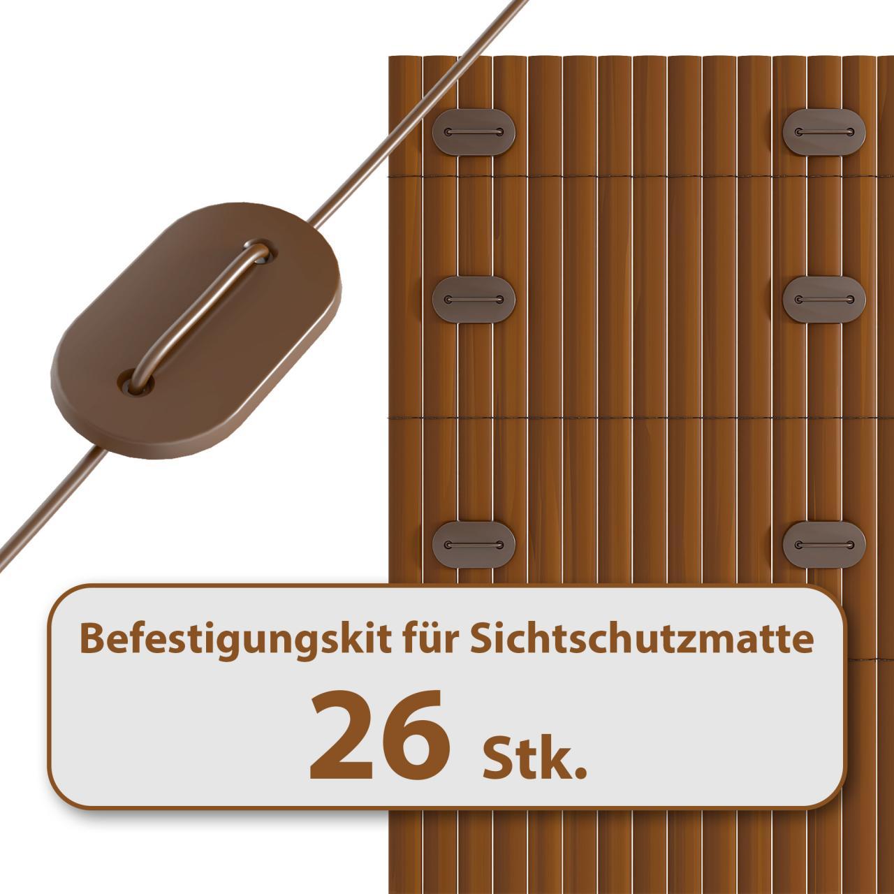 HOMELUX-Befestigungskit-fuer-Sichtschutzmatte-Windschutz-Balkon-Zaun-FARBWAHL