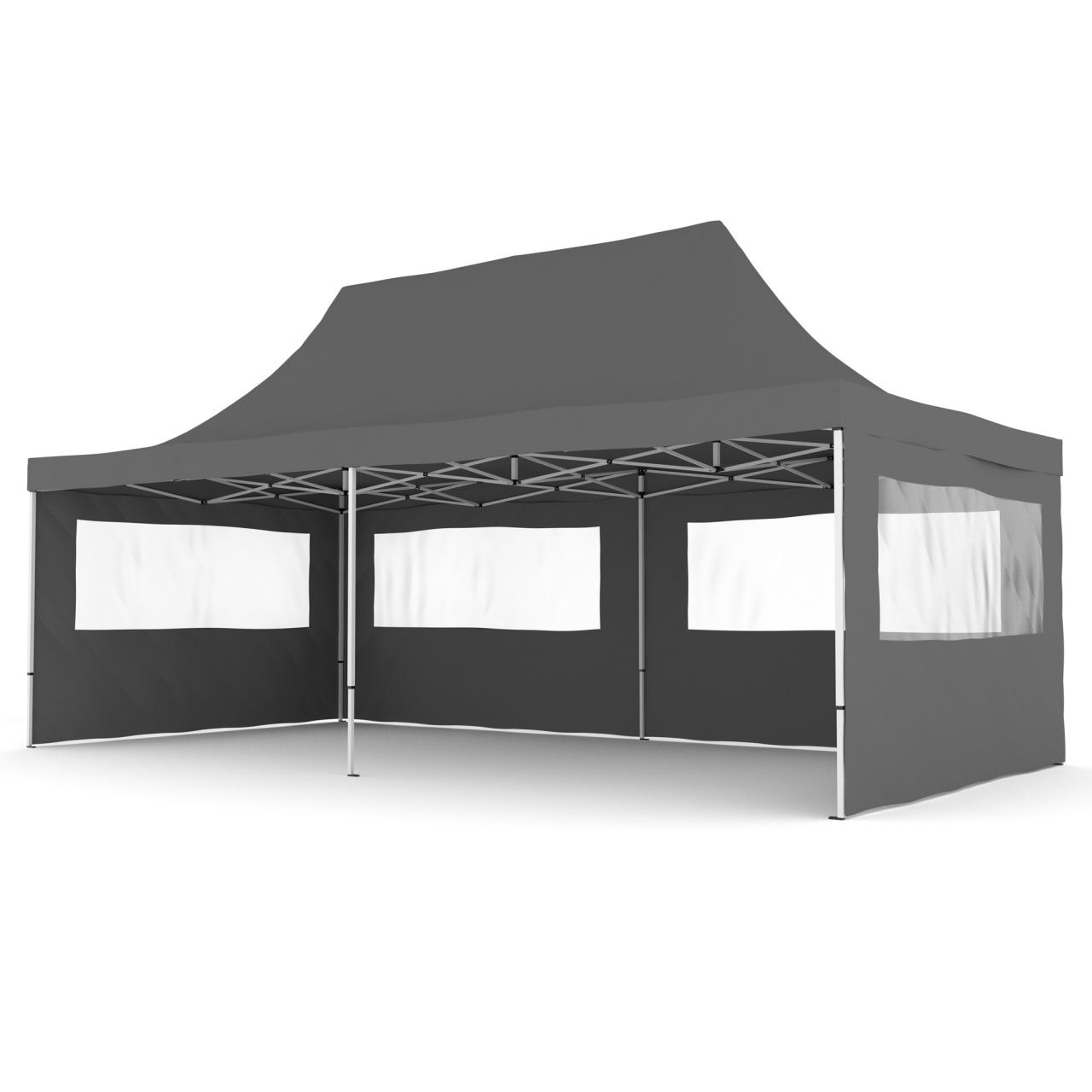 alu 3x6m falt pavillon partyzelt pavillion klapp zelt faltpavillon gartenzelt ebay. Black Bedroom Furniture Sets. Home Design Ideas