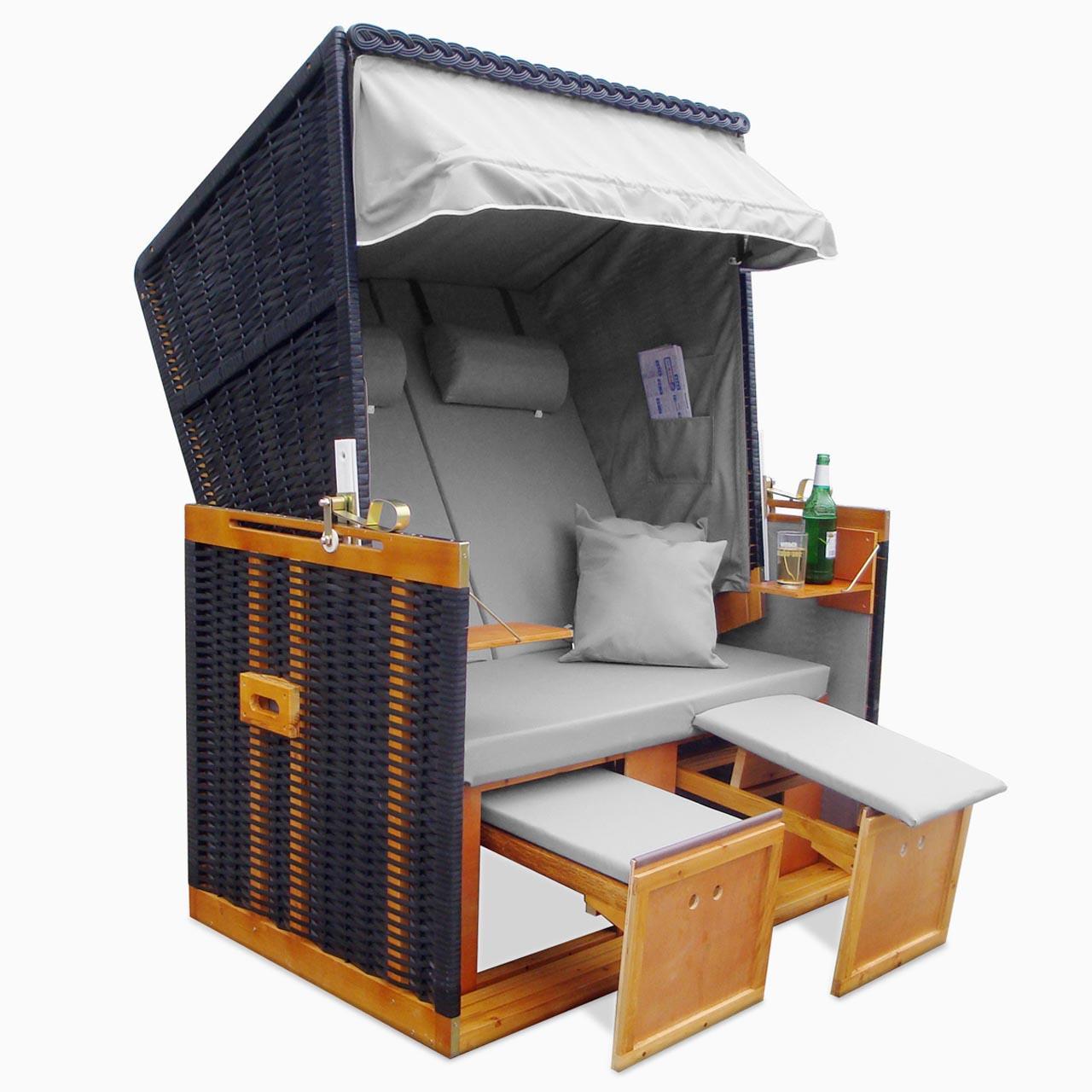 xxl premium nordsee strandkorb volllieger gartenm bel gartenliege sonnenliege ebay. Black Bedroom Furniture Sets. Home Design Ideas
