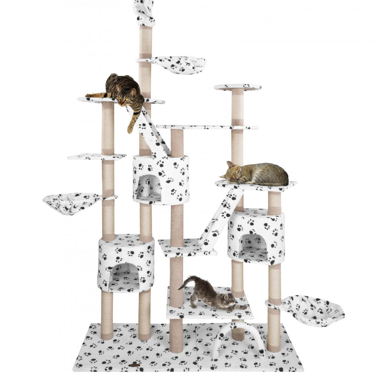 Kratzbaum-Katzenkratzbaum-Katzenbaum-Kletterbaum-Hoehlen-Liegemulde-deckenhoch