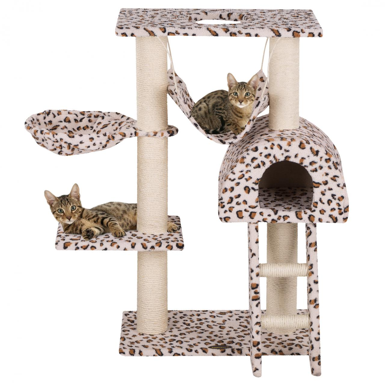 arbre chat griffoir grattoir 100cm diverses couleurs happypet cat018 neuf ebay. Black Bedroom Furniture Sets. Home Design Ideas