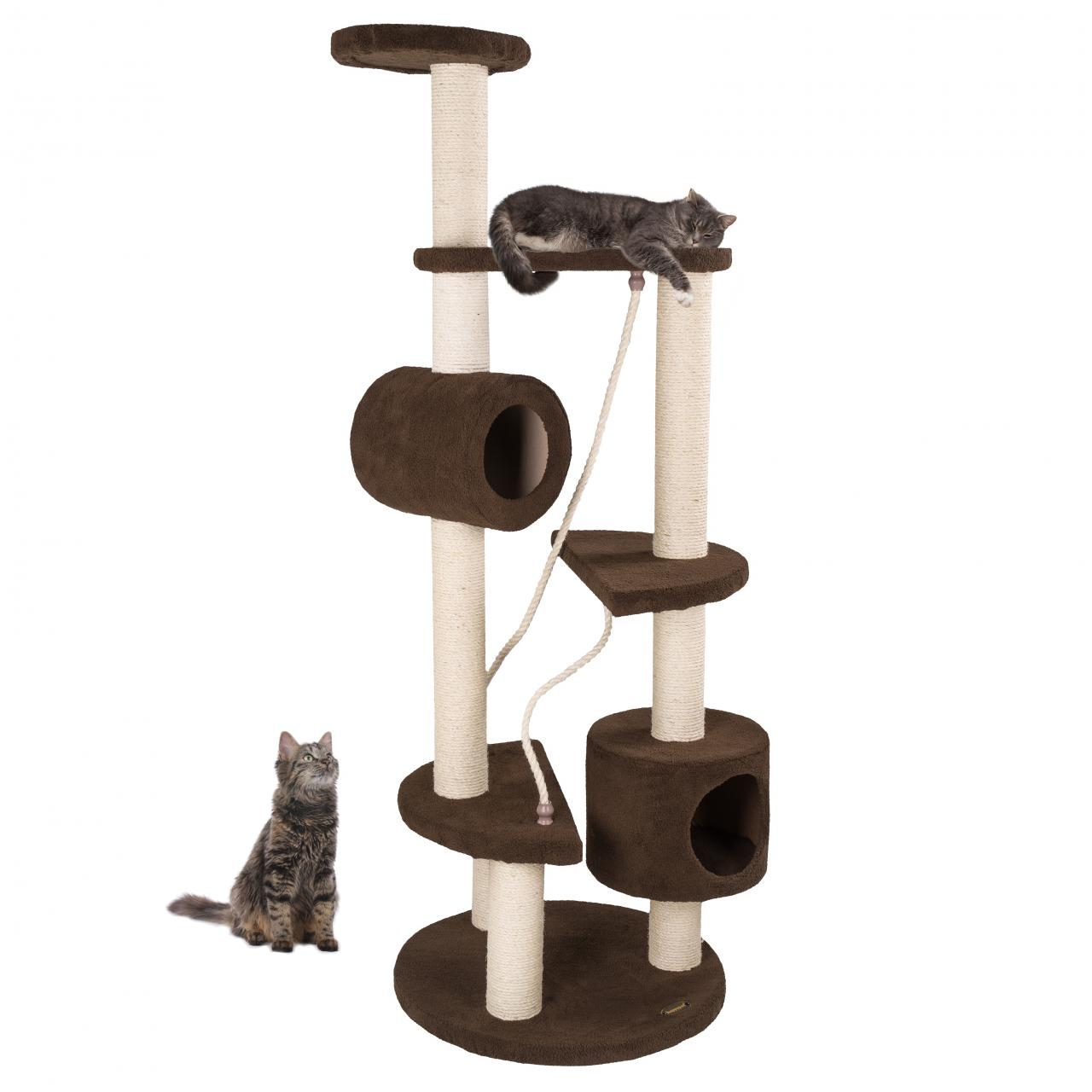 arbre chat griffoir grattoir 163cm cat020 couleurs diverses ebay. Black Bedroom Furniture Sets. Home Design Ideas