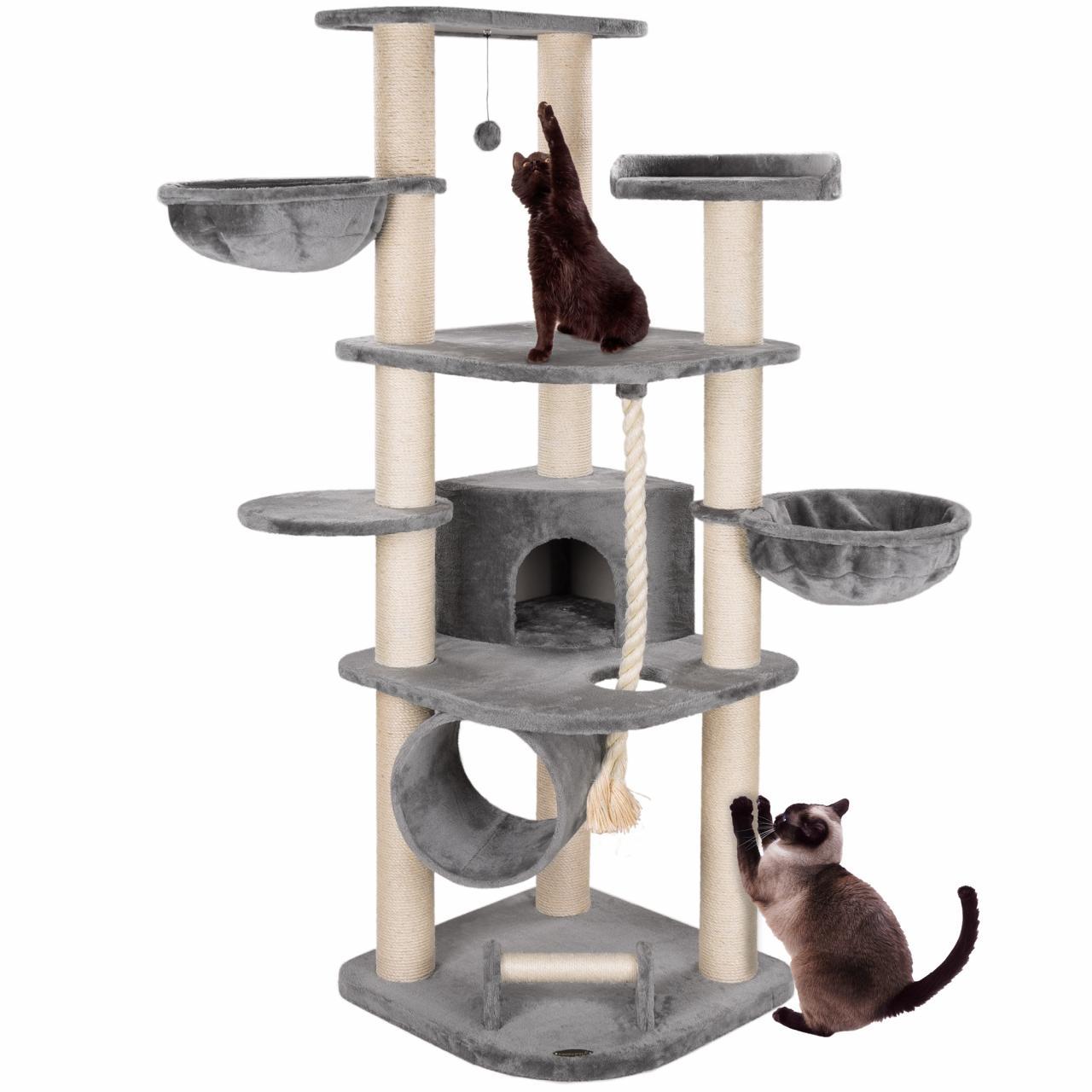 arbre chat griffoir grattoir 186cm cat021 couleurs. Black Bedroom Furniture Sets. Home Design Ideas